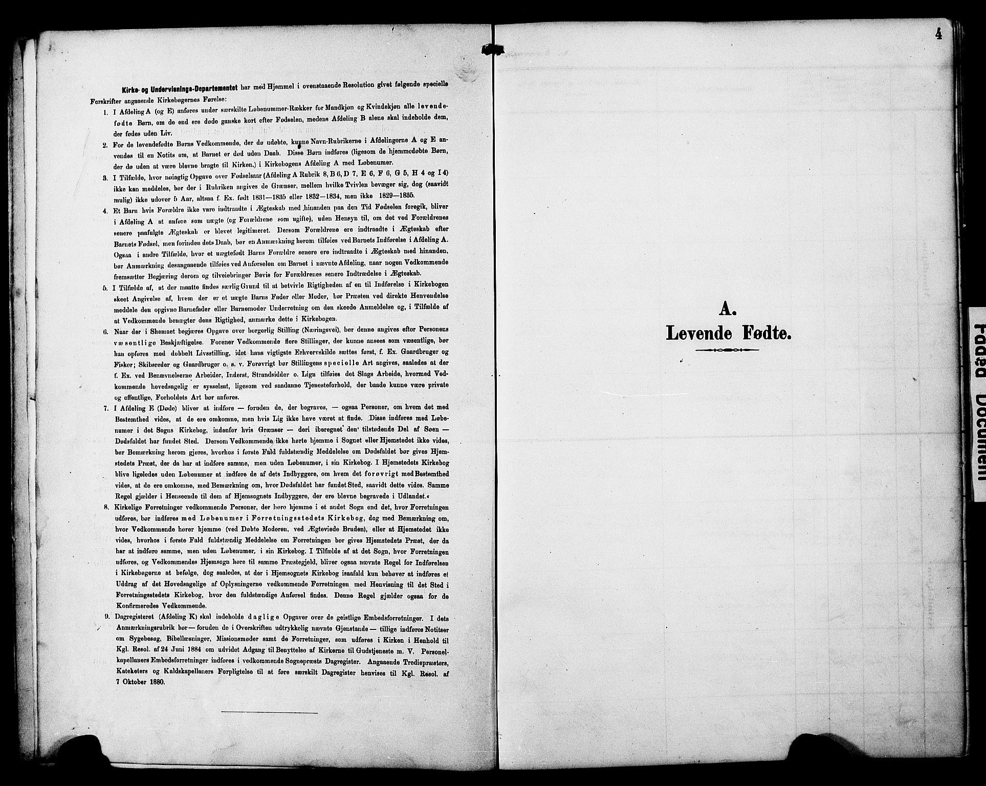 SAT, Ministerialprotokoller, klokkerbøker og fødselsregistre - Nord-Trøndelag, 788/L0701: Klokkerbok nr. 788C01, 1888-1913, s. 4