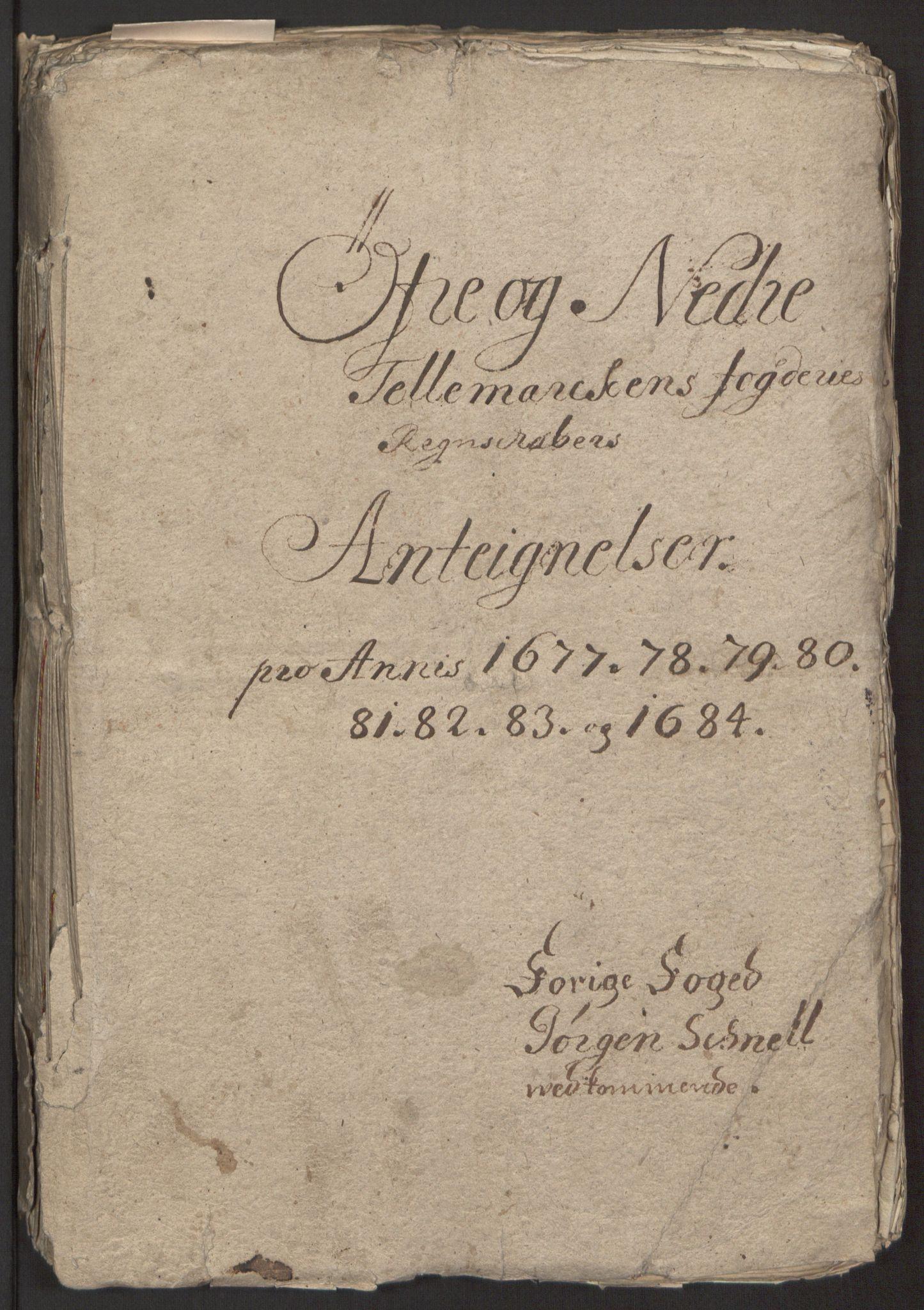 RA, Rentekammeret inntil 1814, Reviderte regnskaper, Fogderegnskap, R35/L2081: Fogderegnskap Øvre og Nedre Telemark, 1680-1684, s. 240