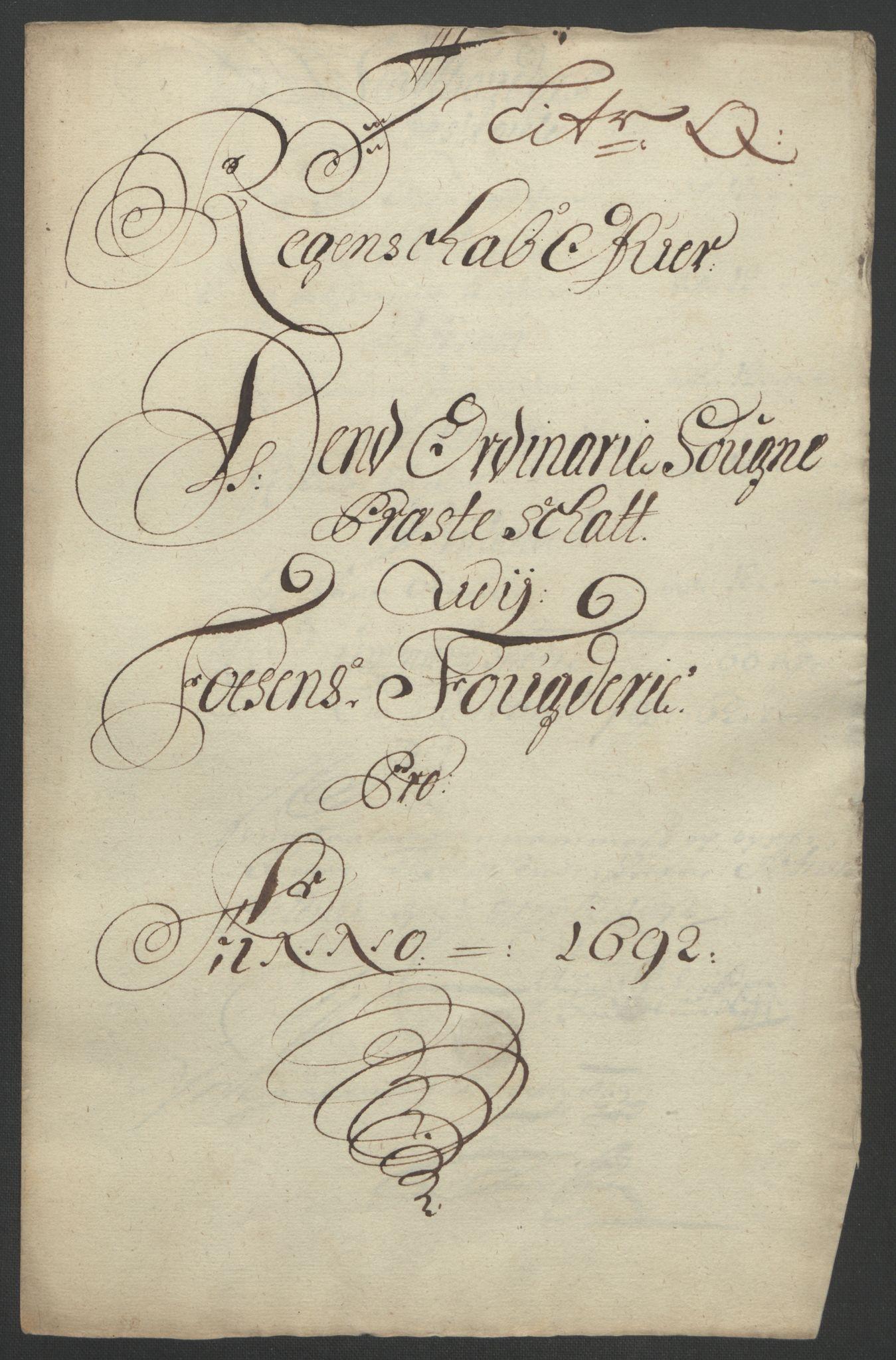 RA, Rentekammeret inntil 1814, Reviderte regnskaper, Fogderegnskap, R57/L3849: Fogderegnskap Fosen, 1692-1693, s. 225