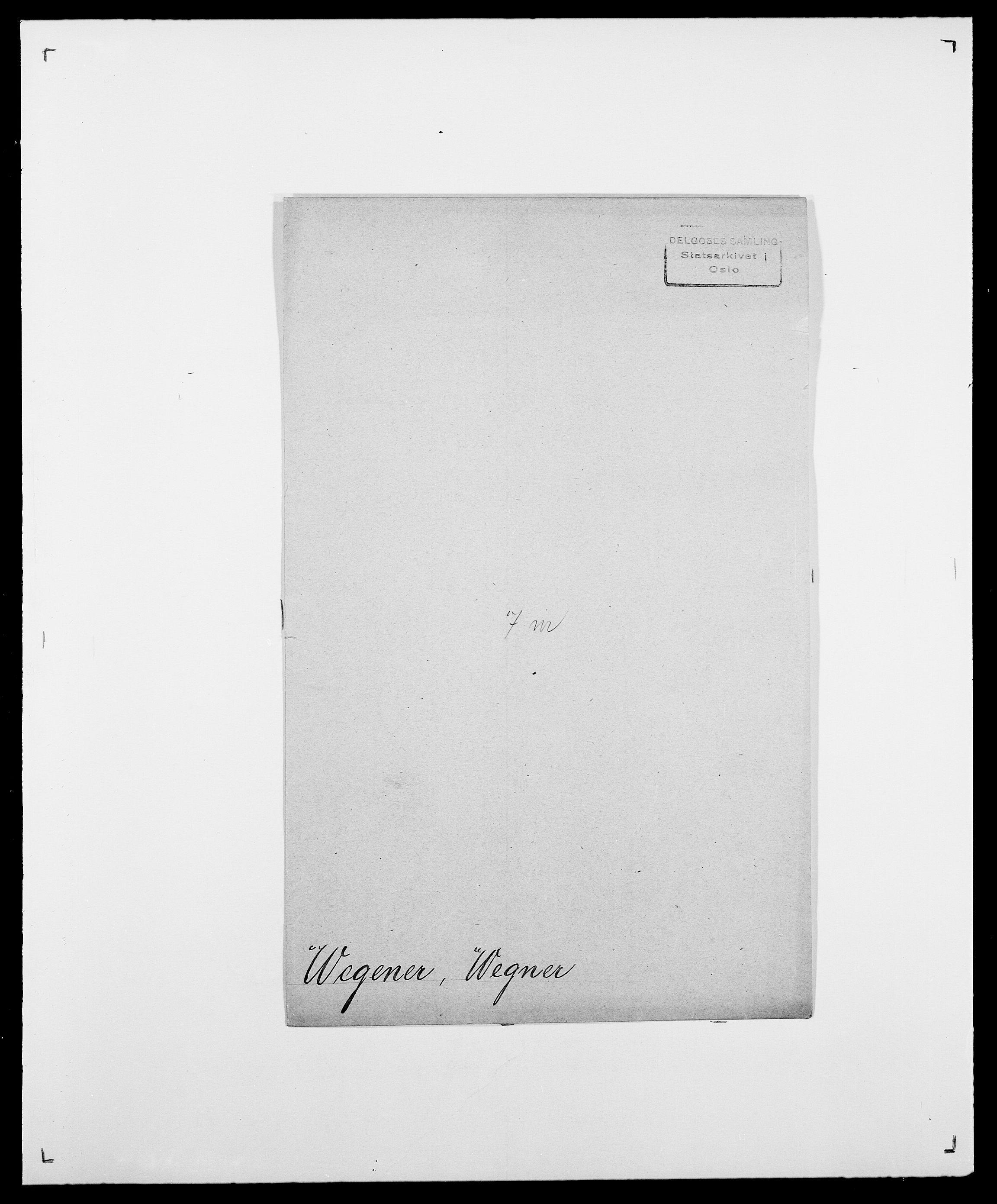 SAO, Delgobe, Charles Antoine - samling, D/Da/L0040: Usgaard - Velund, s. 484