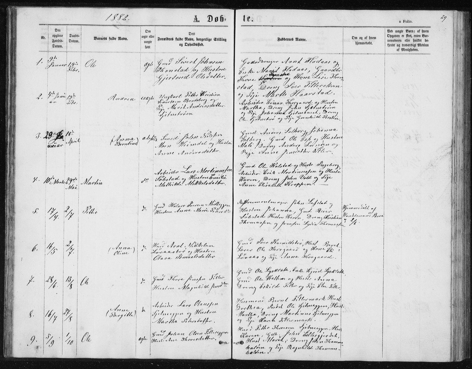 SAT, Ministerialprotokoller, klokkerbøker og fødselsregistre - Sør-Trøndelag, 621/L0459: Klokkerbok nr. 621C02, 1866-1895, s. 29