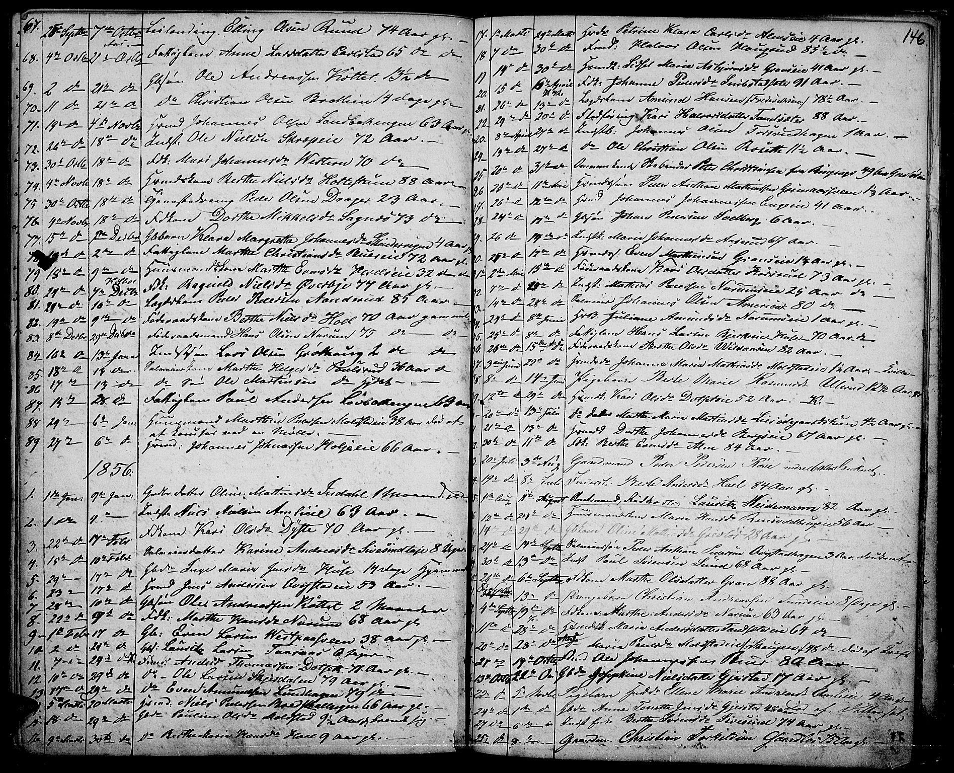 SAH, Vestre Toten prestekontor, Klokkerbok nr. 5, 1854-1870, s. 146