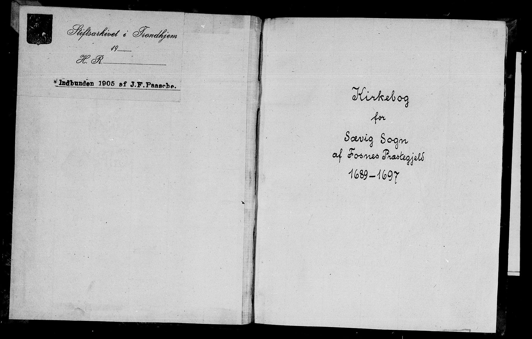 SAT, Ministerialprotokoller, klokkerbøker og fødselsregistre - Nord-Trøndelag, 770/L0587: Ministerialbok nr. 770A01, 1689-1697