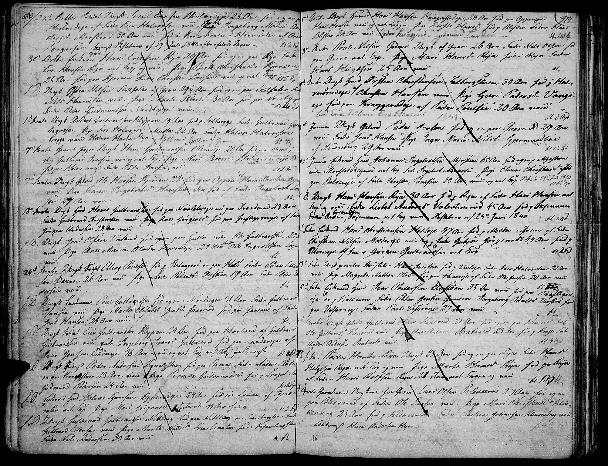 SAH, Jevnaker prestekontor, Ministerialbok nr. 4, 1800-1861, s. 376-377