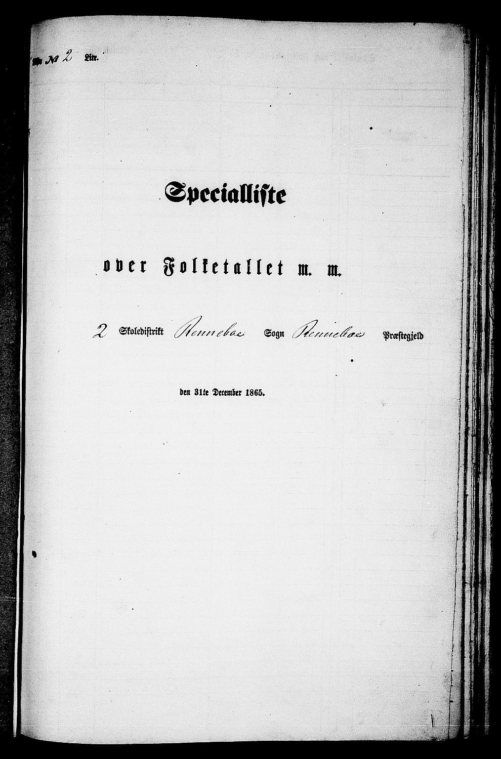 RA, Folketelling 1865 for 1635P Rennebu prestegjeld, 1865, s. 27
