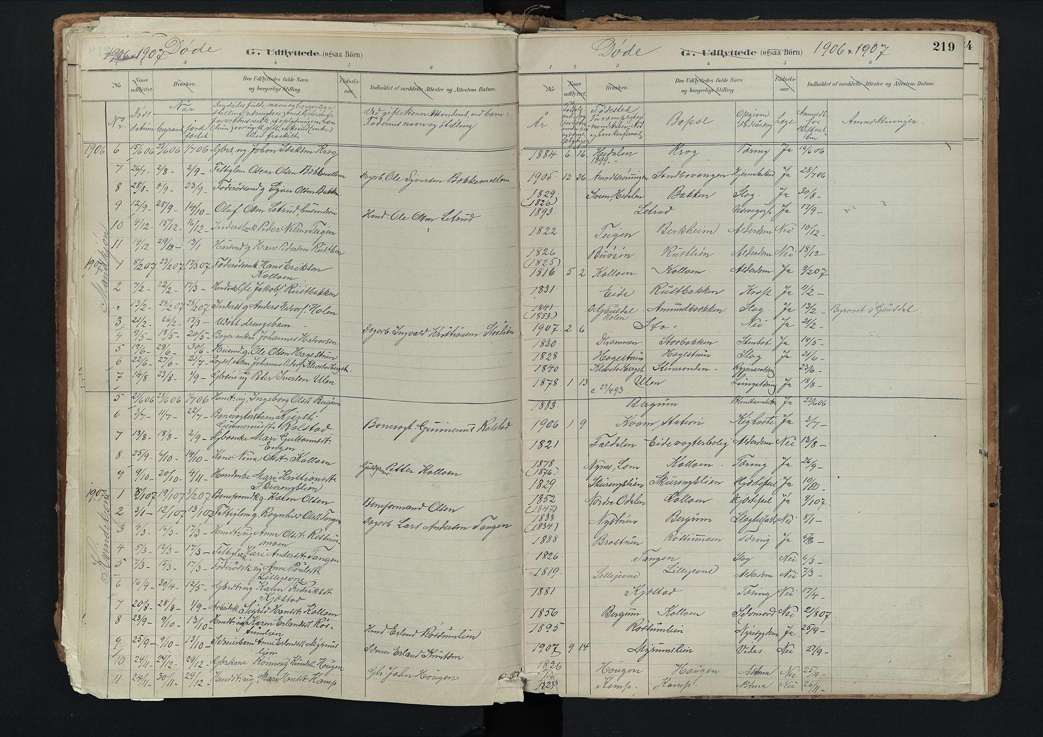 SAH, Nord-Fron prestekontor, Ministerialbok nr. 3, 1884-1914, s. 219