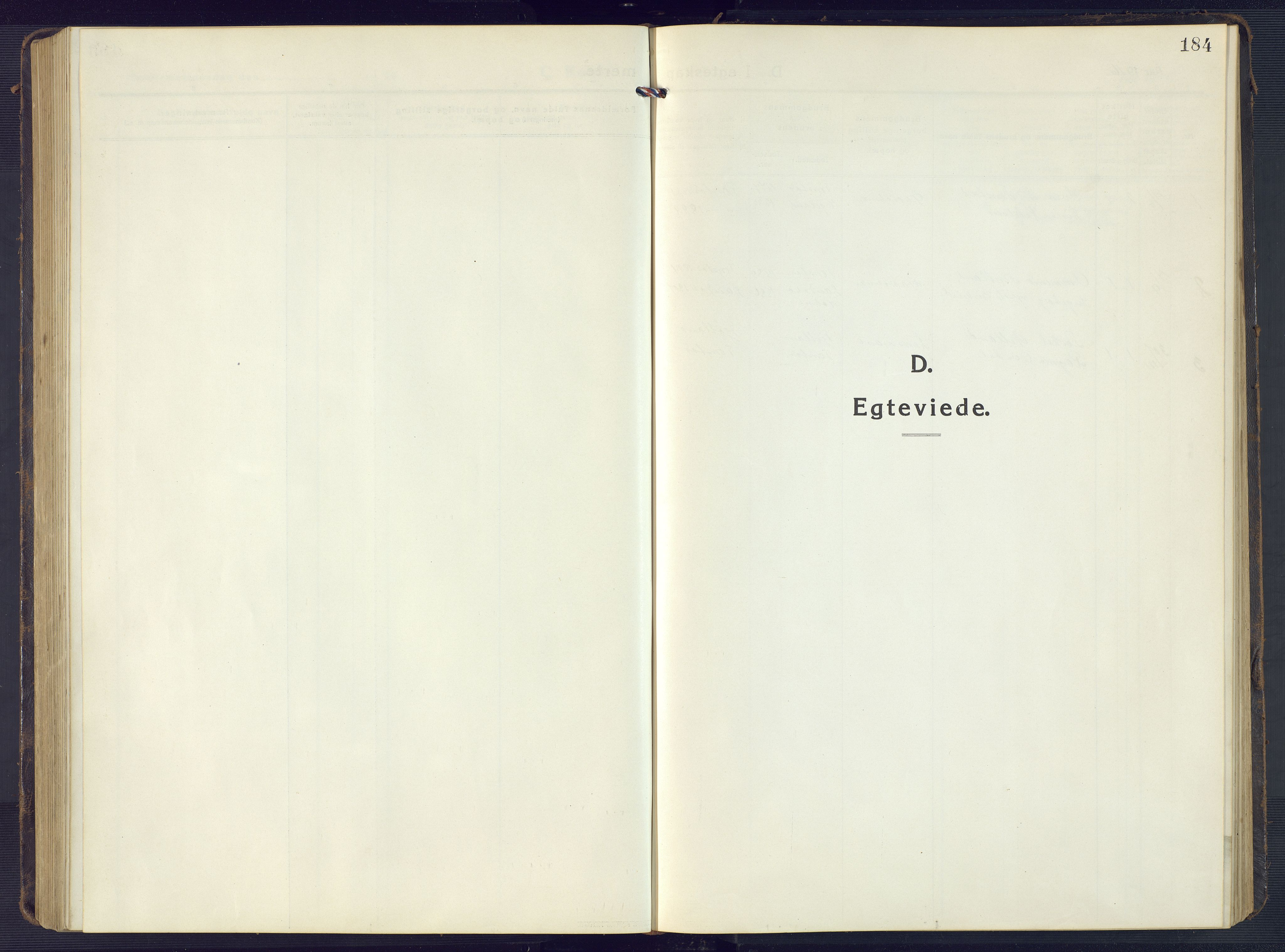 SAK, Sirdal sokneprestkontor, F/Fb/Fbb/L0005: Klokkerbok nr. B 5, 1916-1960, s. 184