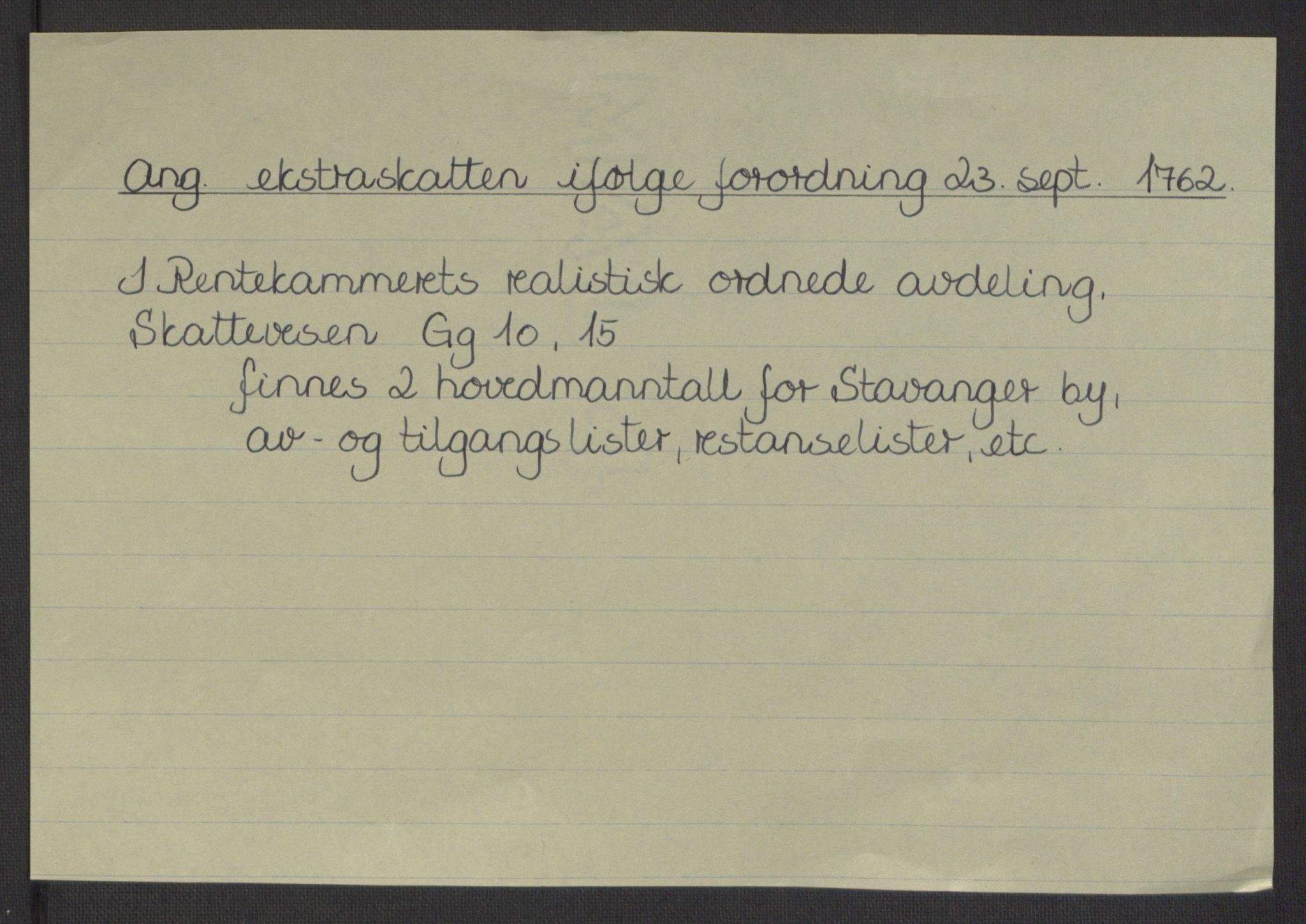 RA, Rentekammeret inntil 1814, Reviderte regnskaper, Byregnskaper, R/Ro/L0305: [O6] Kontribusjonsregnskap, 1762-1768, s. 5
