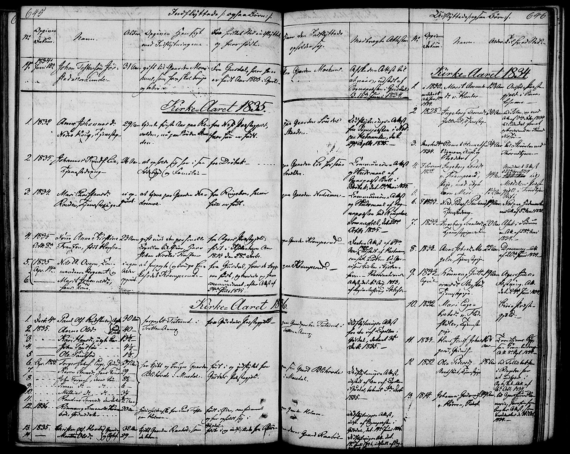 SAH, Øyer prestekontor, Ministerialbok nr. 4, 1824-1841, s. 645-646