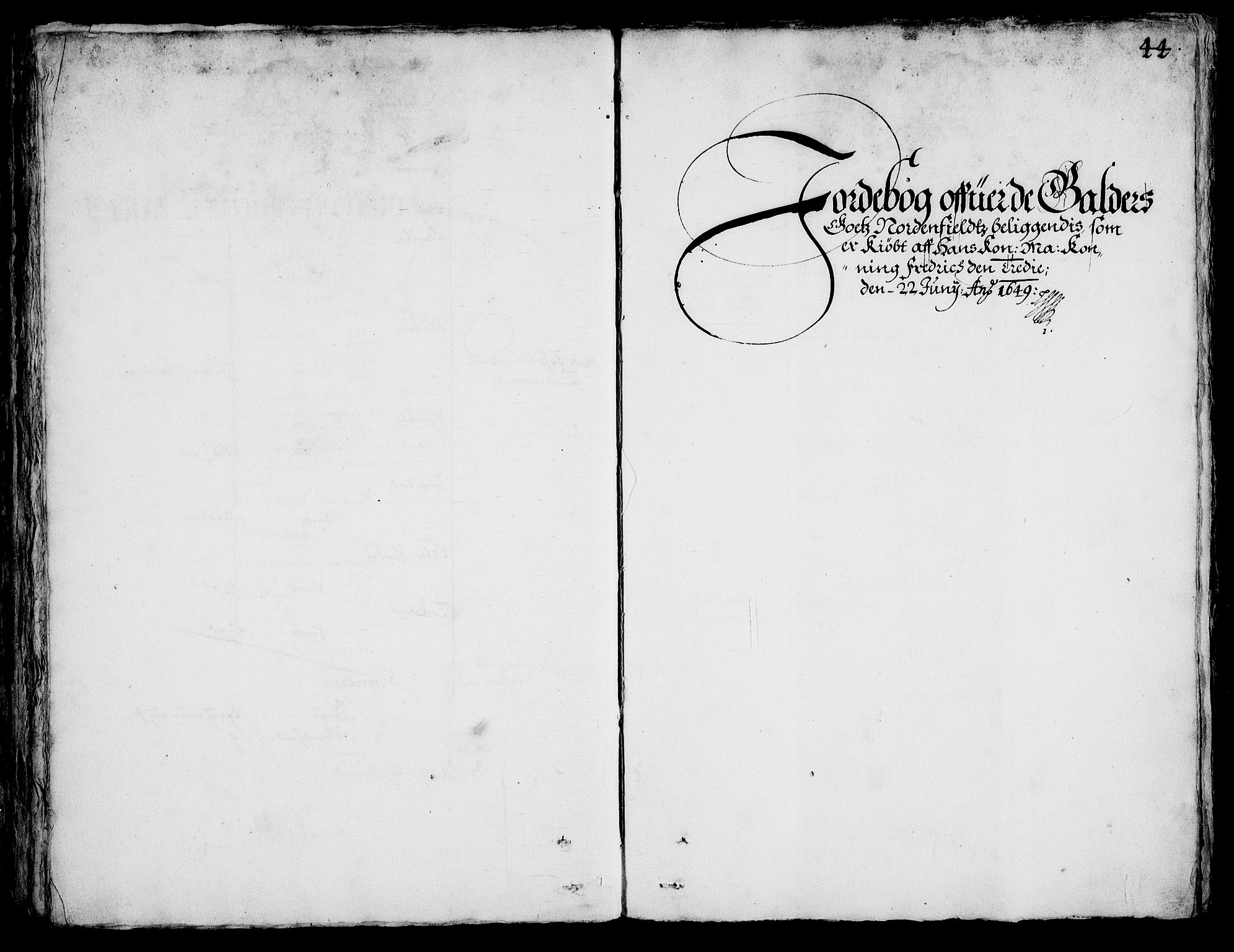 RA, Rentekammeret inntil 1814, Realistisk ordnet avdeling, On/L0001: Statens gods, 1651, s. 1043b-1044a