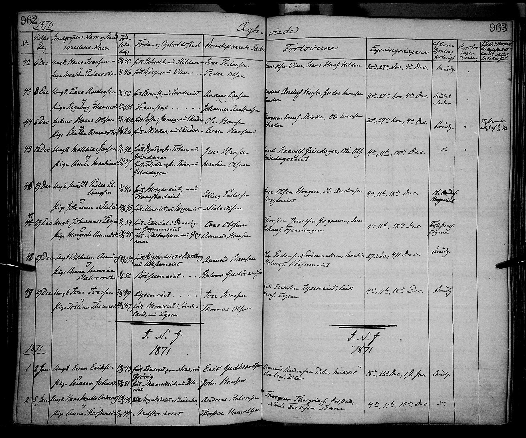 SAH, Gran prestekontor, Ministerialbok nr. 12, 1856-1874, s. 962-963