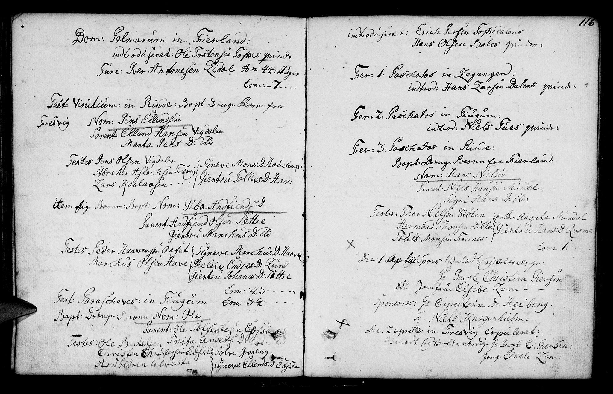 SAB, Leikanger sokneprestembete, Ministerialbok nr. A 3, 1756-1770, s. 116