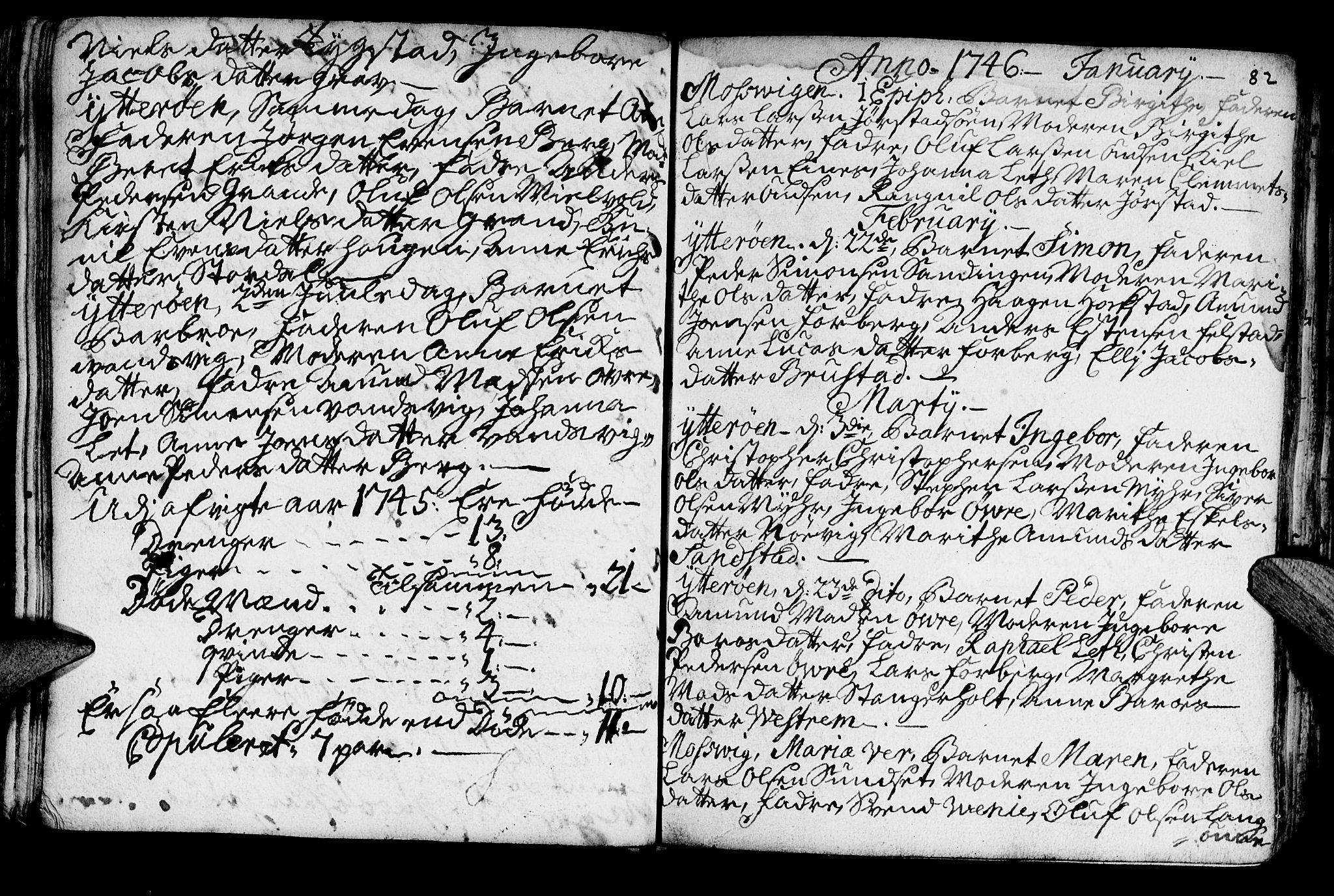 SAT, Ministerialprotokoller, klokkerbøker og fødselsregistre - Nord-Trøndelag, 722/L0215: Ministerialbok nr. 722A02, 1718-1755, s. 82
