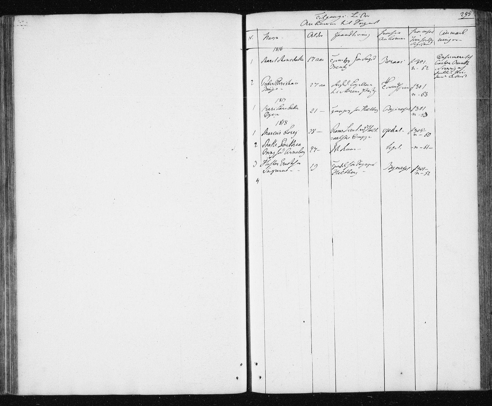 SAT, Ministerialprotokoller, klokkerbøker og fødselsregistre - Sør-Trøndelag, 687/L1017: Klokkerbok nr. 687C01, 1816-1837, s. 295