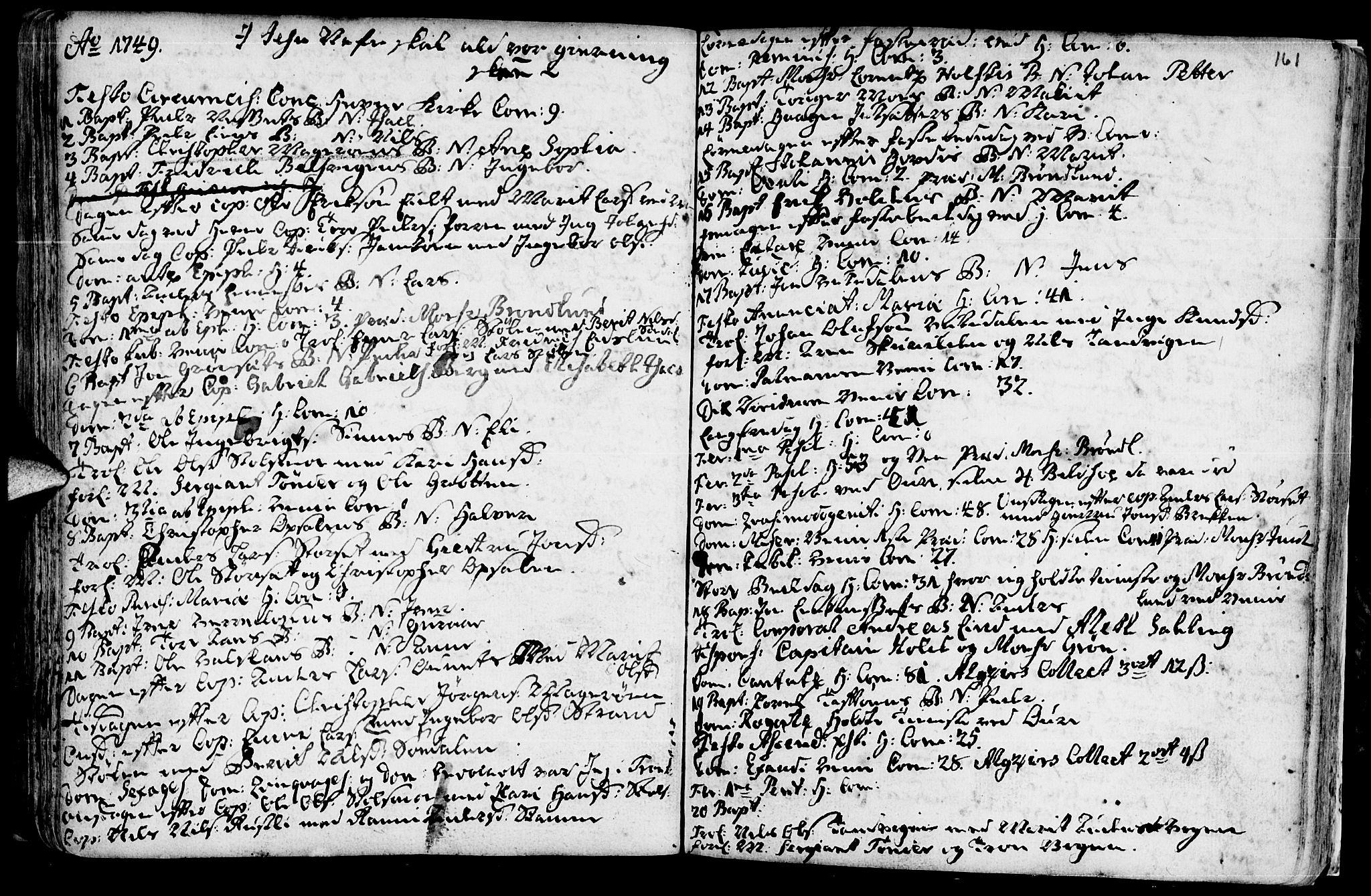 SAT, Ministerialprotokoller, klokkerbøker og fødselsregistre - Sør-Trøndelag, 630/L0488: Ministerialbok nr. 630A01, 1717-1756, s. 160-161
