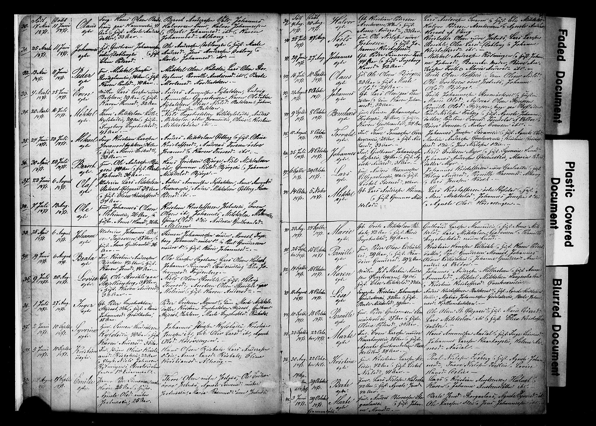 SAH, Vang prestekontor, Hedmark, H/Ha/Hab/L0018: Klokkerbok nr. 18, 1871-1903, s. 4