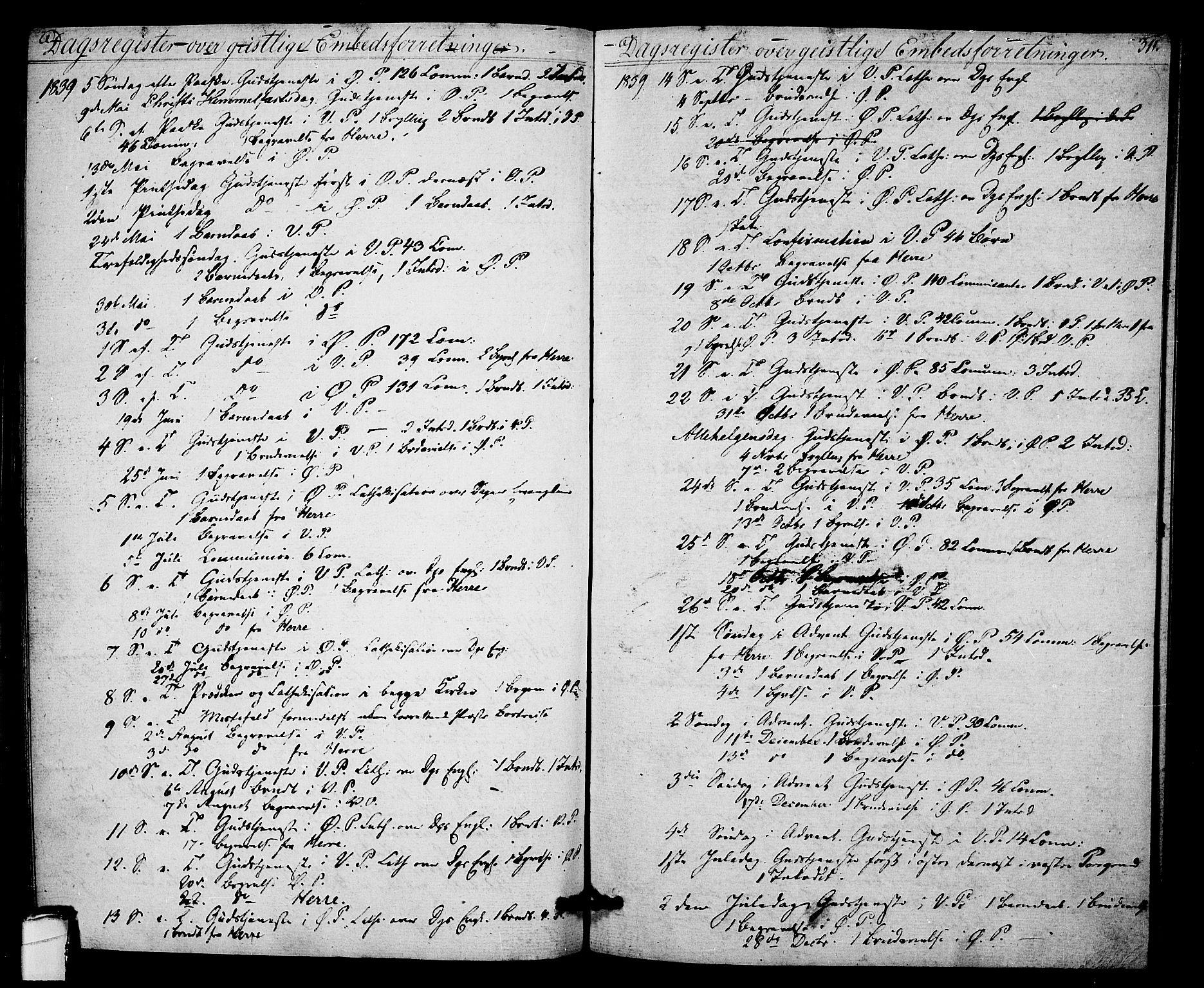 SAKO, Porsgrunn kirkebøker , F/Fa/L0005: Ministerialbok nr. 5, 1828-1840, s. 311