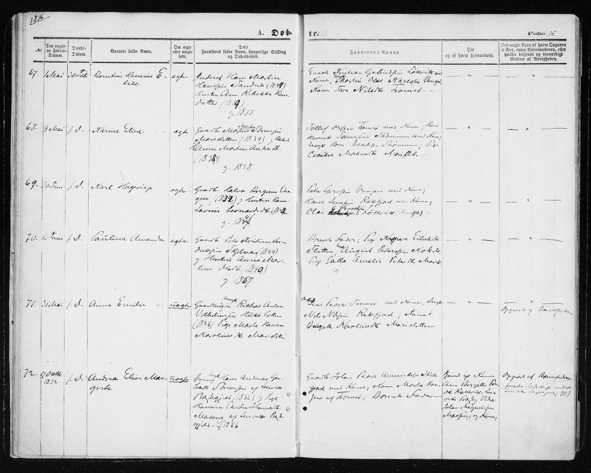 SATØ, Tromsøysund sokneprestkontor, G/Ga/L0003kirke: Ministerialbok nr. 3, 1875-1880, s. 15