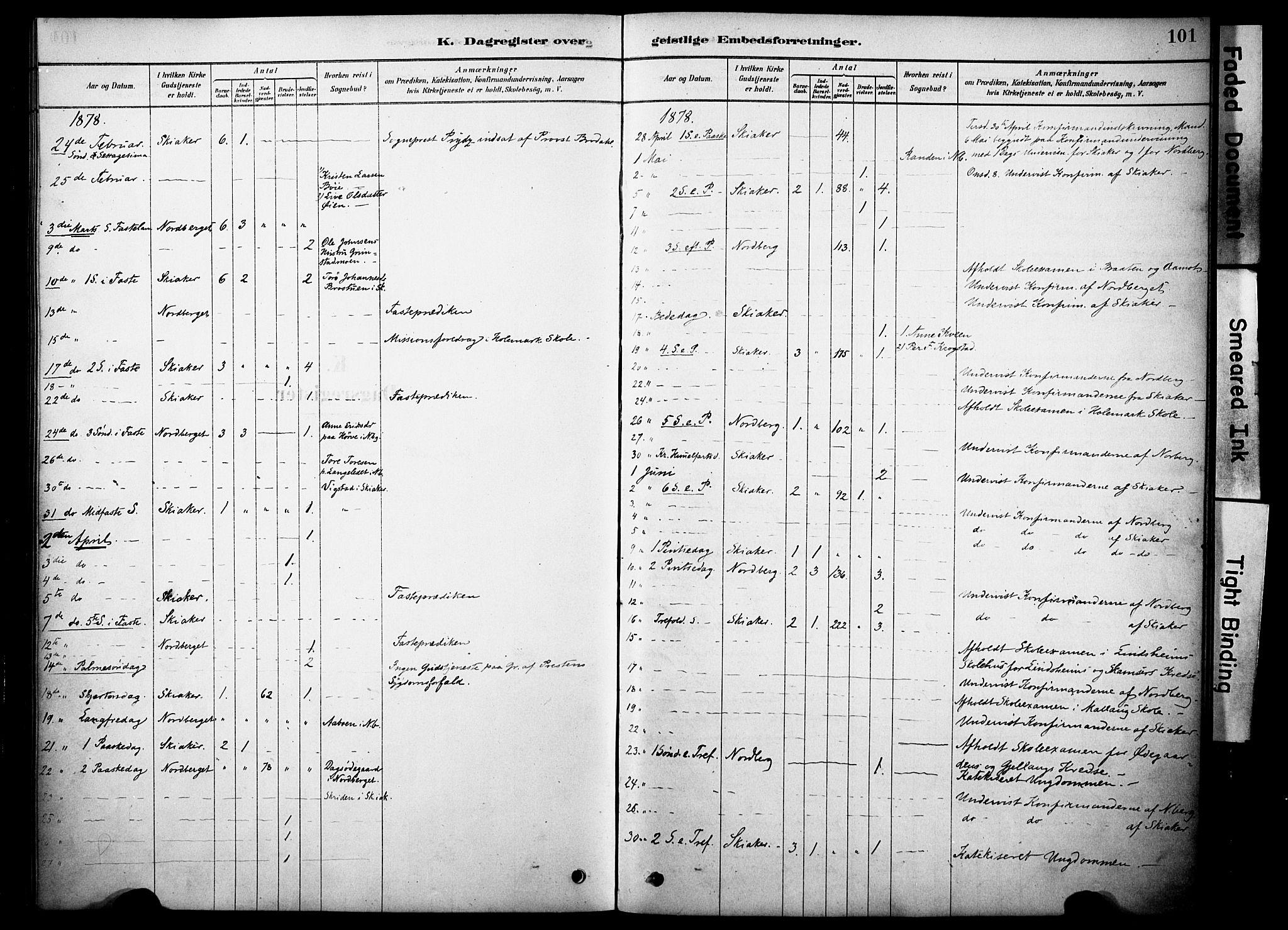 SAH, Skjåk prestekontor, Ministerialbok nr. 2, 1878-1907, s. 101
