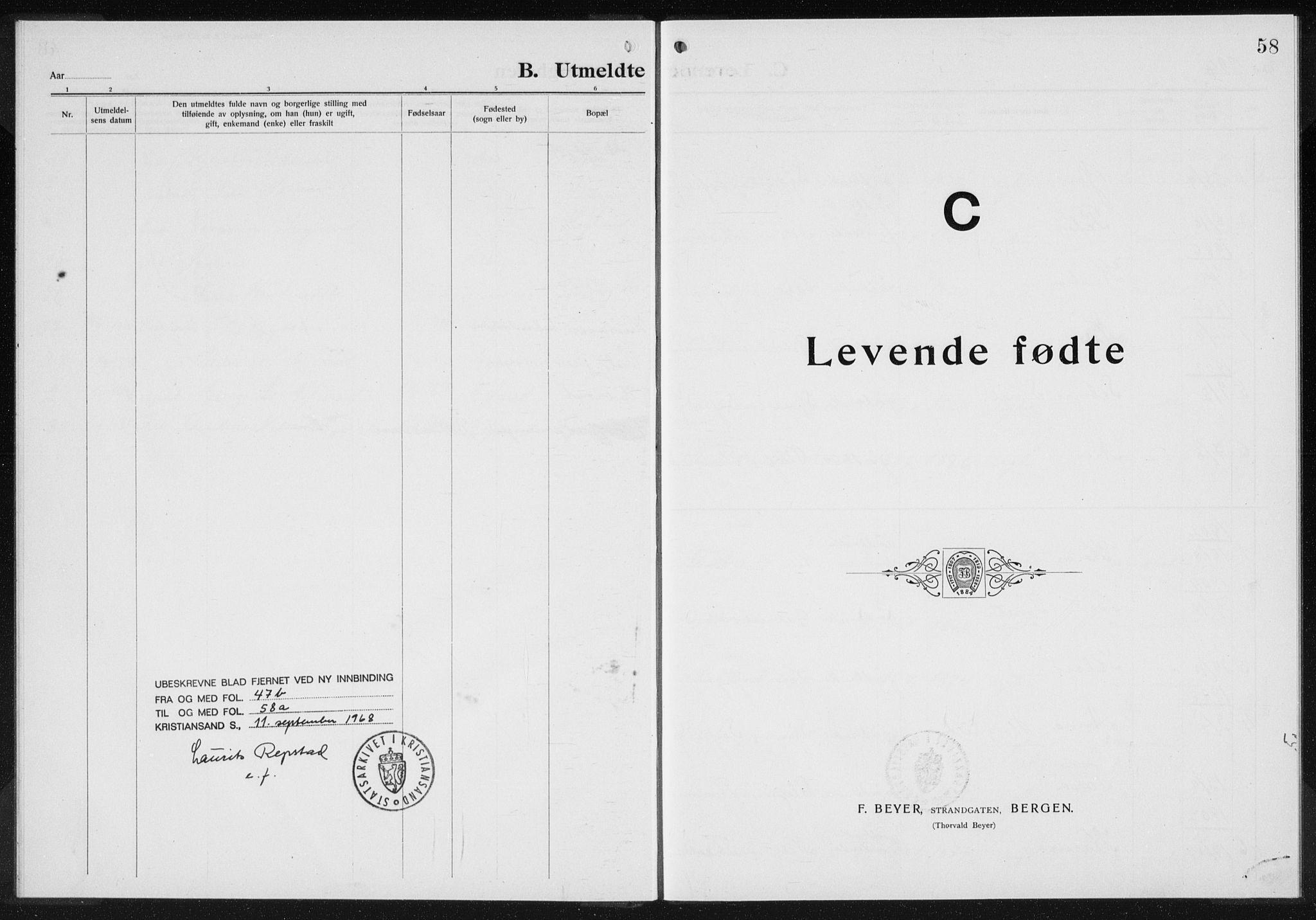 SAK, Baptistmenigheten i Gyland, F/Fa/L0001: Dissenterprotokoll nr. F 1, 1902-1937, s. 58