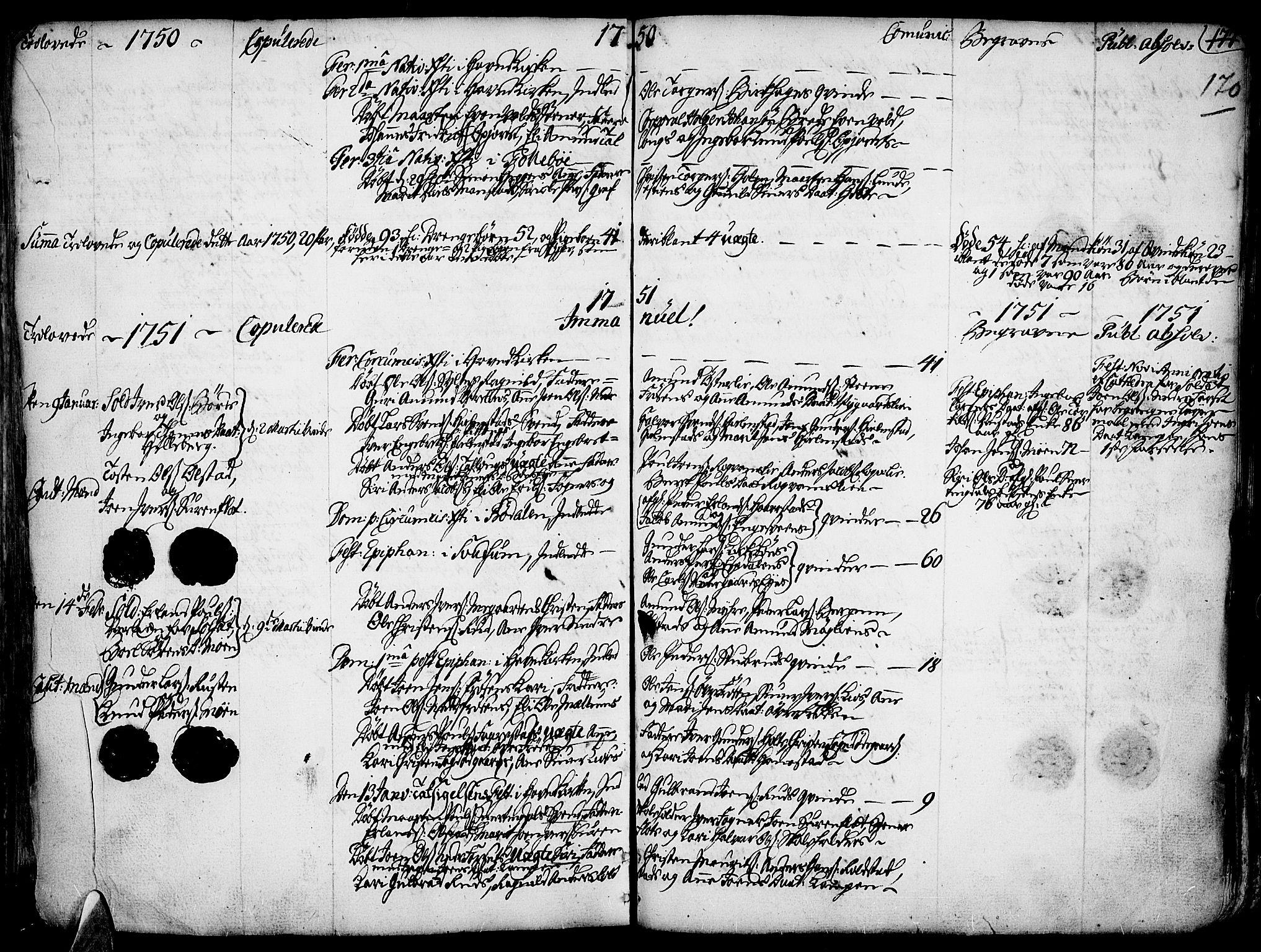 SAH, Gausdal prestekontor, Ministerialbok nr. 2, 1729-1757, s. 170