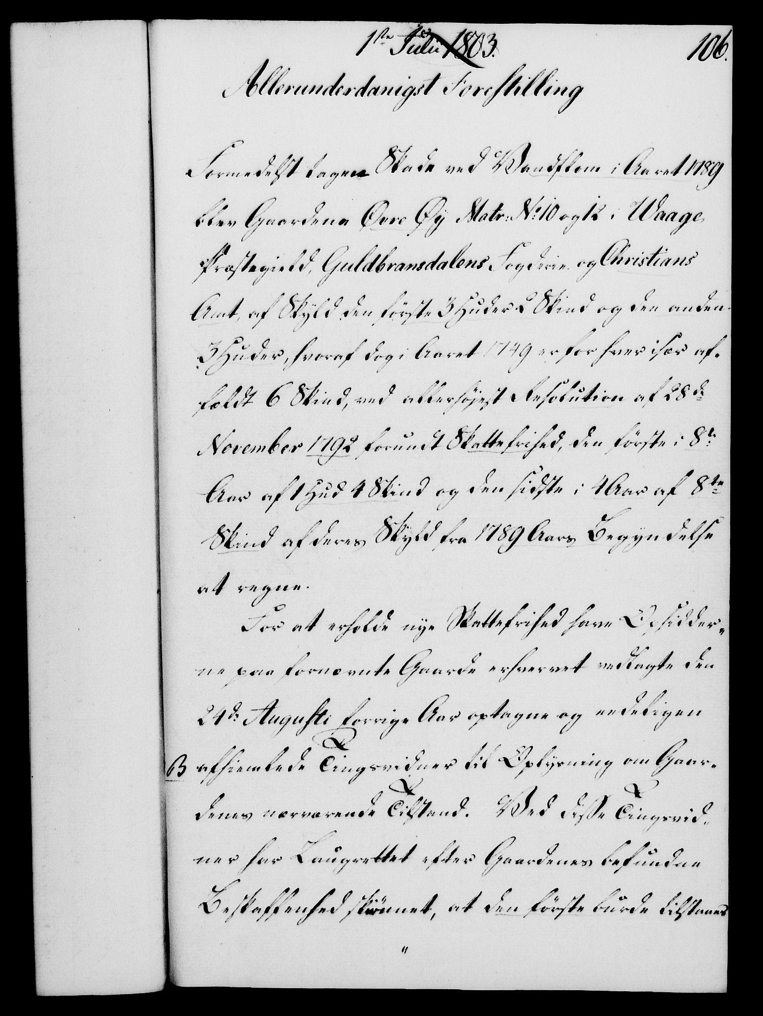 RA, Rentekammeret, Kammerkanselliet, G/Gf/Gfa/L0085: Norsk relasjons- og resolusjonsprotokoll (merket RK 52.85), 1803, s. 605