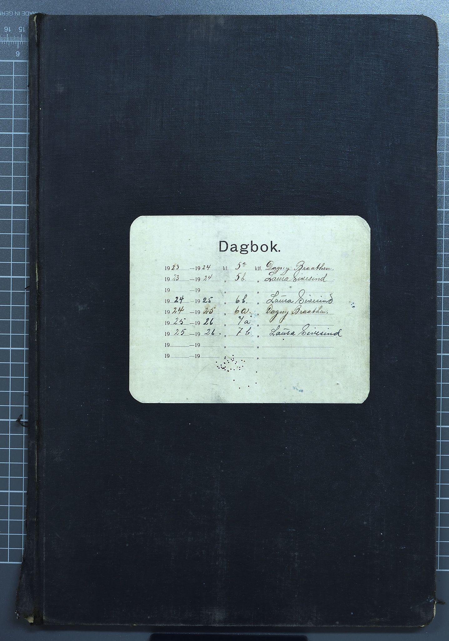 KVT, Vestre Toten kommunearkiv: Raufoss Skole i Vestre Toten kommune. Elevprotokoll 1923-26 for 5. - 7. klasse, 1923-1926