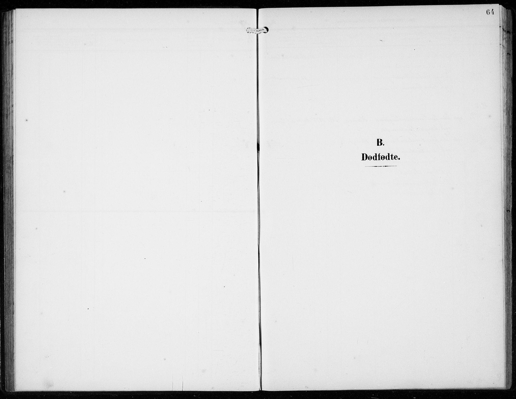 SAB, Ullensvang Sokneprestembete, H/Hab: Klokkerbok nr. F  1, 1902-1935, s. 64
