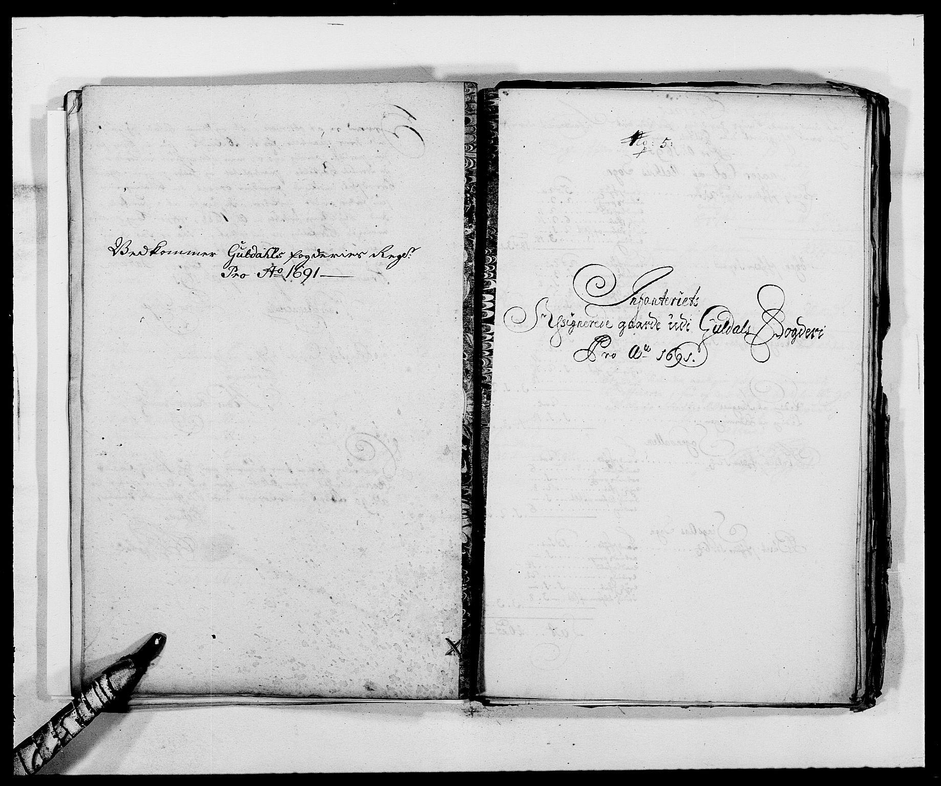 RA, Rentekammeret inntil 1814, Reviderte regnskaper, Fogderegnskap, R59/L3941: Fogderegnskap Gauldal, 1691, s. 191