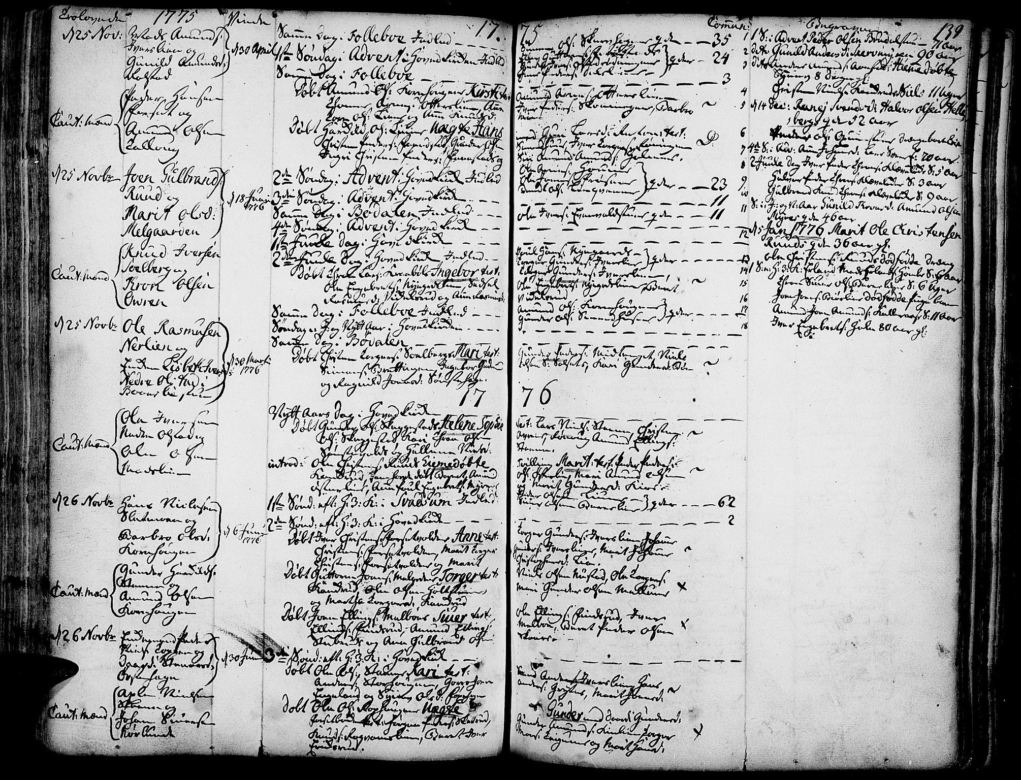 SAH, Gausdal prestekontor, Ministerialbok nr. 3, 1758-1809, s. 139