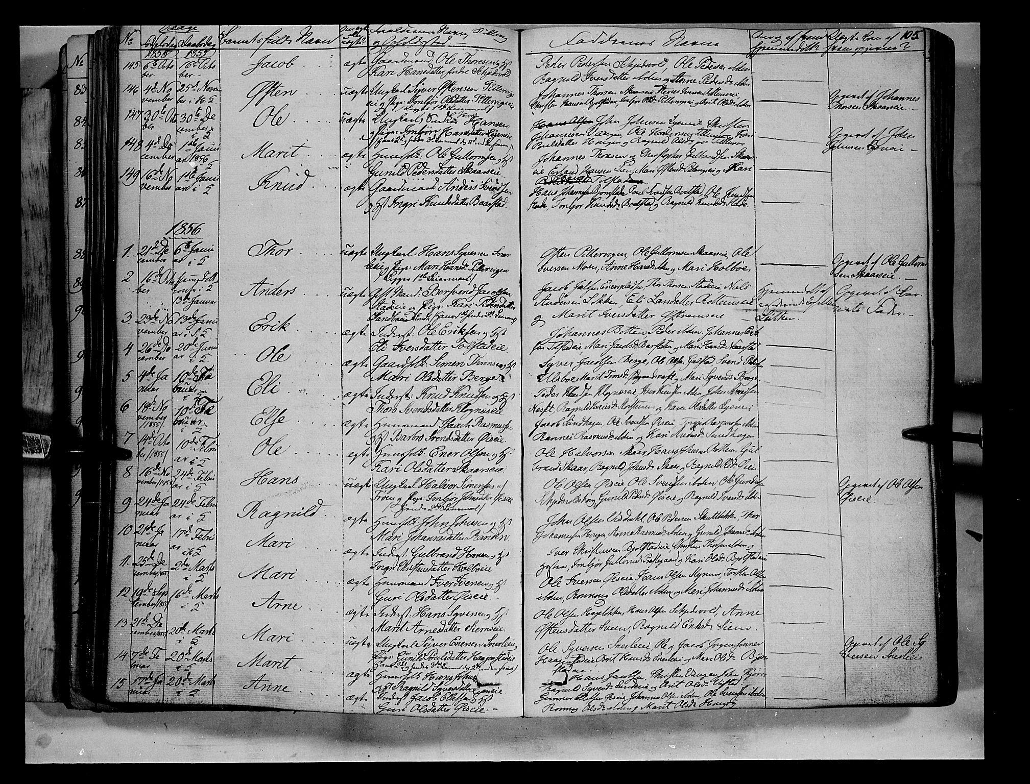 SAH, Vågå prestekontor, Ministerialbok nr. 5 /1, 1842-1856, s. 105