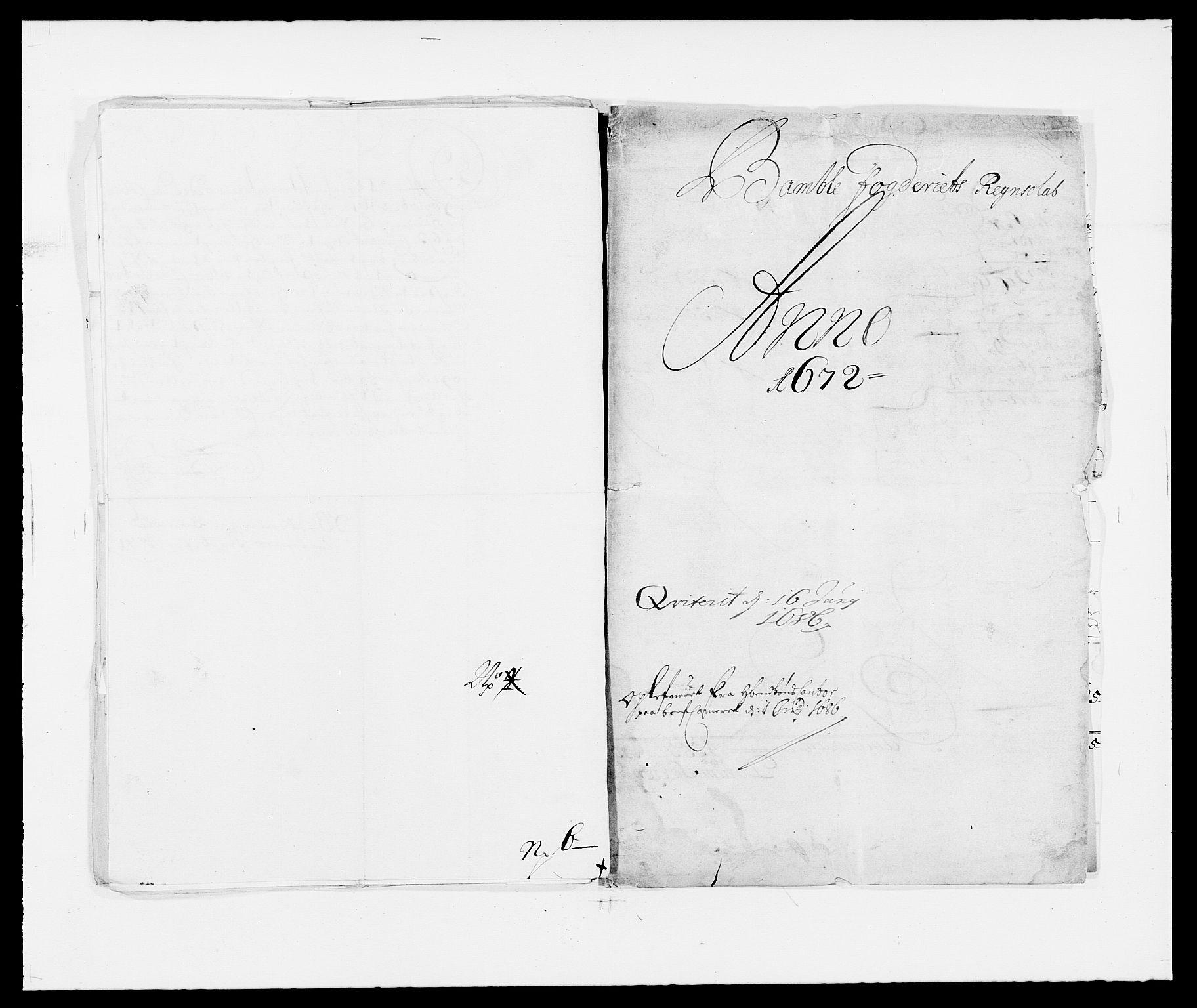 RA, Rentekammeret inntil 1814, Reviderte regnskaper, Fogderegnskap, R34/L2041: Fogderegnskap Bamble, 1670-1672, s. 254