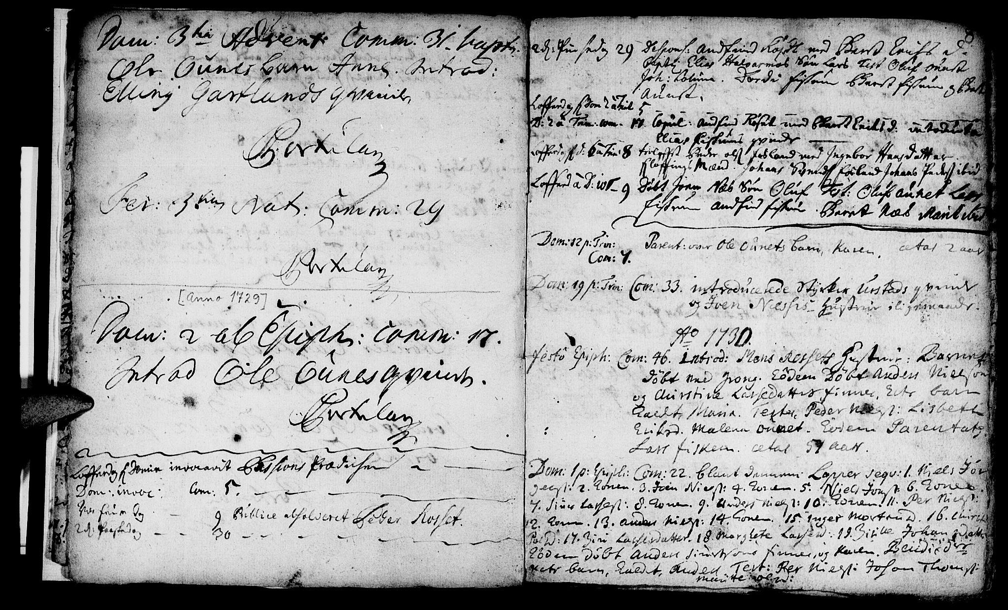 SAT, Ministerialprotokoller, klokkerbøker og fødselsregistre - Nord-Trøndelag, 759/L0525: Ministerialbok nr. 759A01, 1706-1748, s. 8