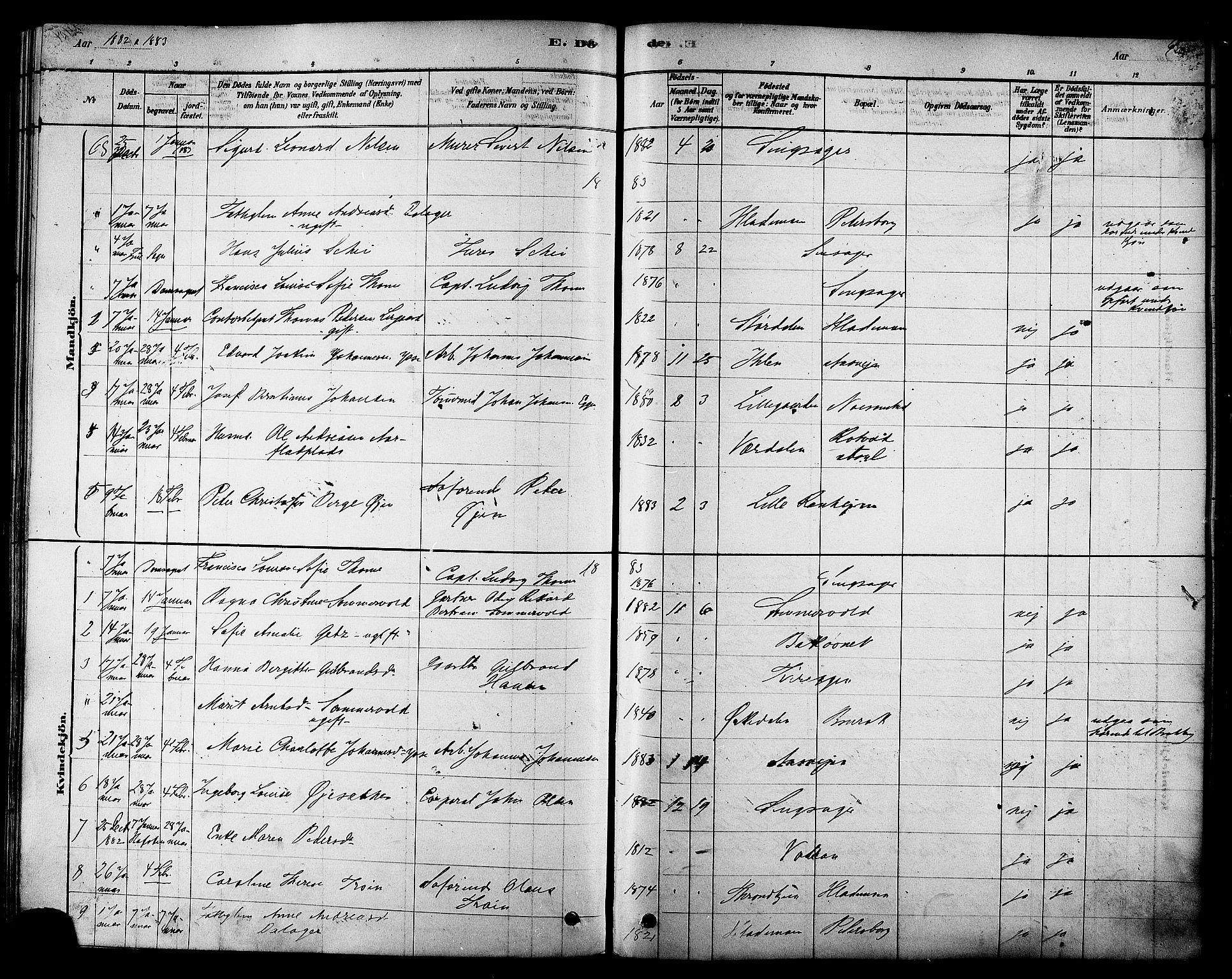 SAT, Ministerialprotokoller, klokkerbøker og fødselsregistre - Sør-Trøndelag, 606/L0294: Ministerialbok nr. 606A09, 1878-1886, s. 405