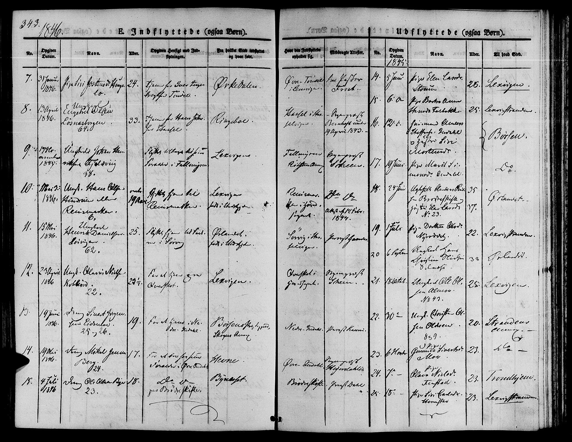 SAT, Ministerialprotokoller, klokkerbøker og fødselsregistre - Sør-Trøndelag, 646/L0610: Ministerialbok nr. 646A08, 1837-1847, s. 343