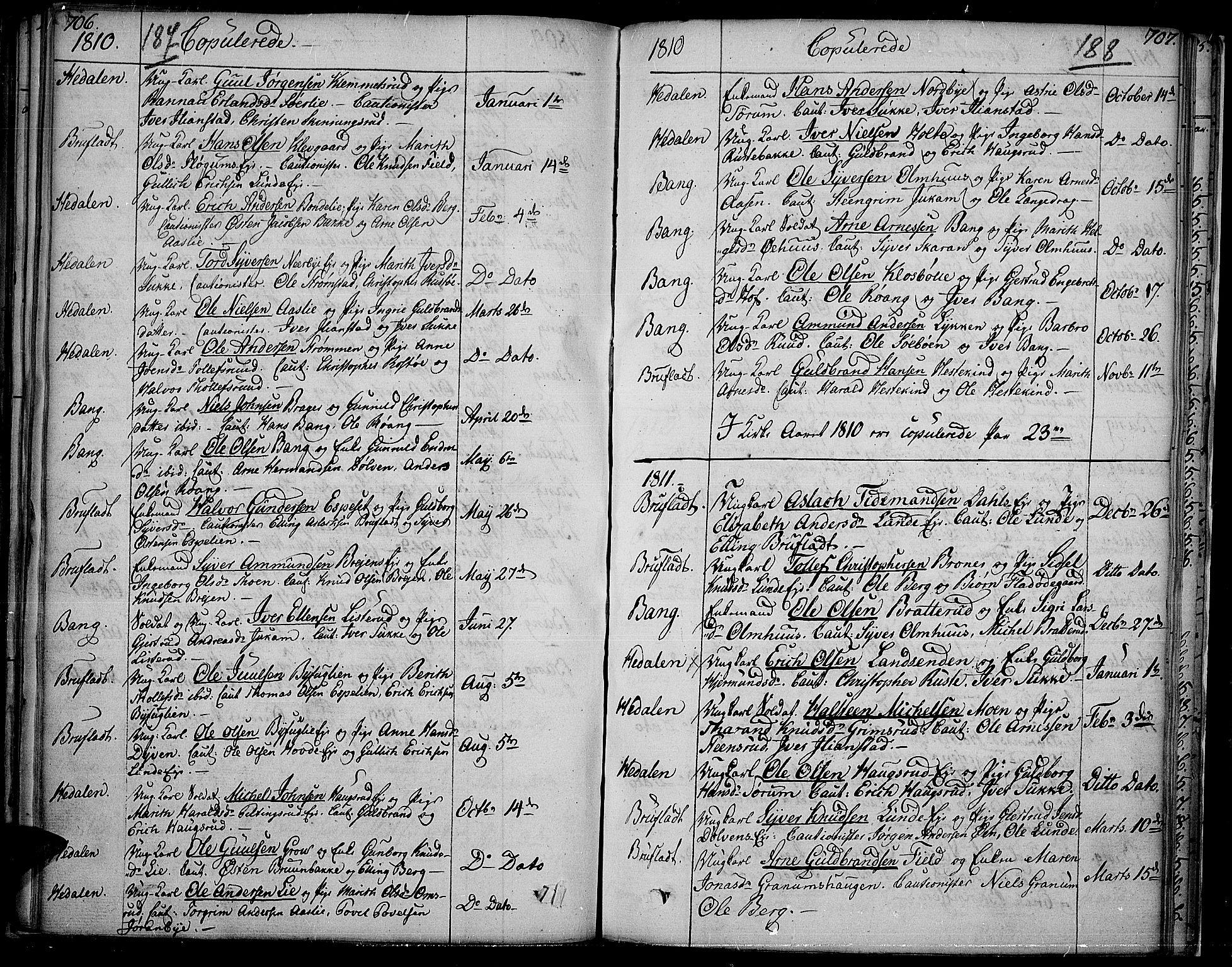 SAH, Sør-Aurdal prestekontor, Ministerialbok nr. 1, 1807-1815, s. 187-188