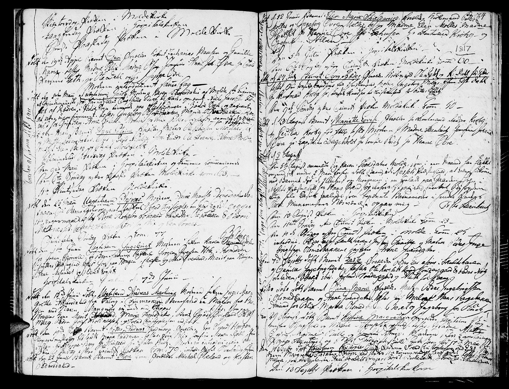 SAT, Ministerialprotokoller, klokkerbøker og fødselsregistre - Møre og Romsdal, 558/L0687: Ministerialbok nr. 558A01, 1798-1818, s. 34