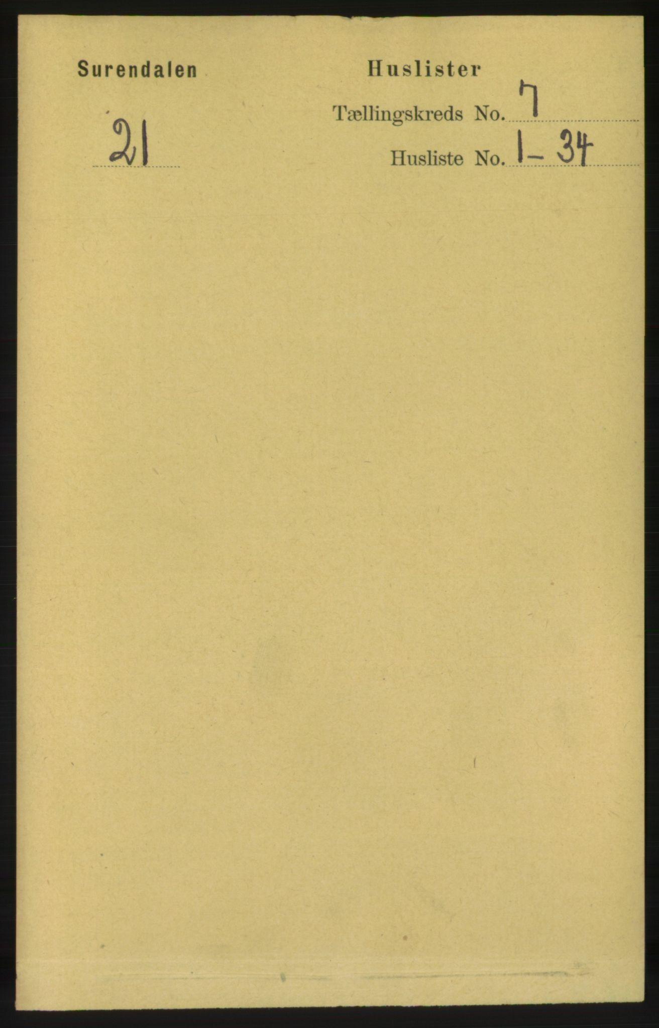 RA, Folketelling 1891 for 1566 Surnadal herred, 1891, s. 1808
