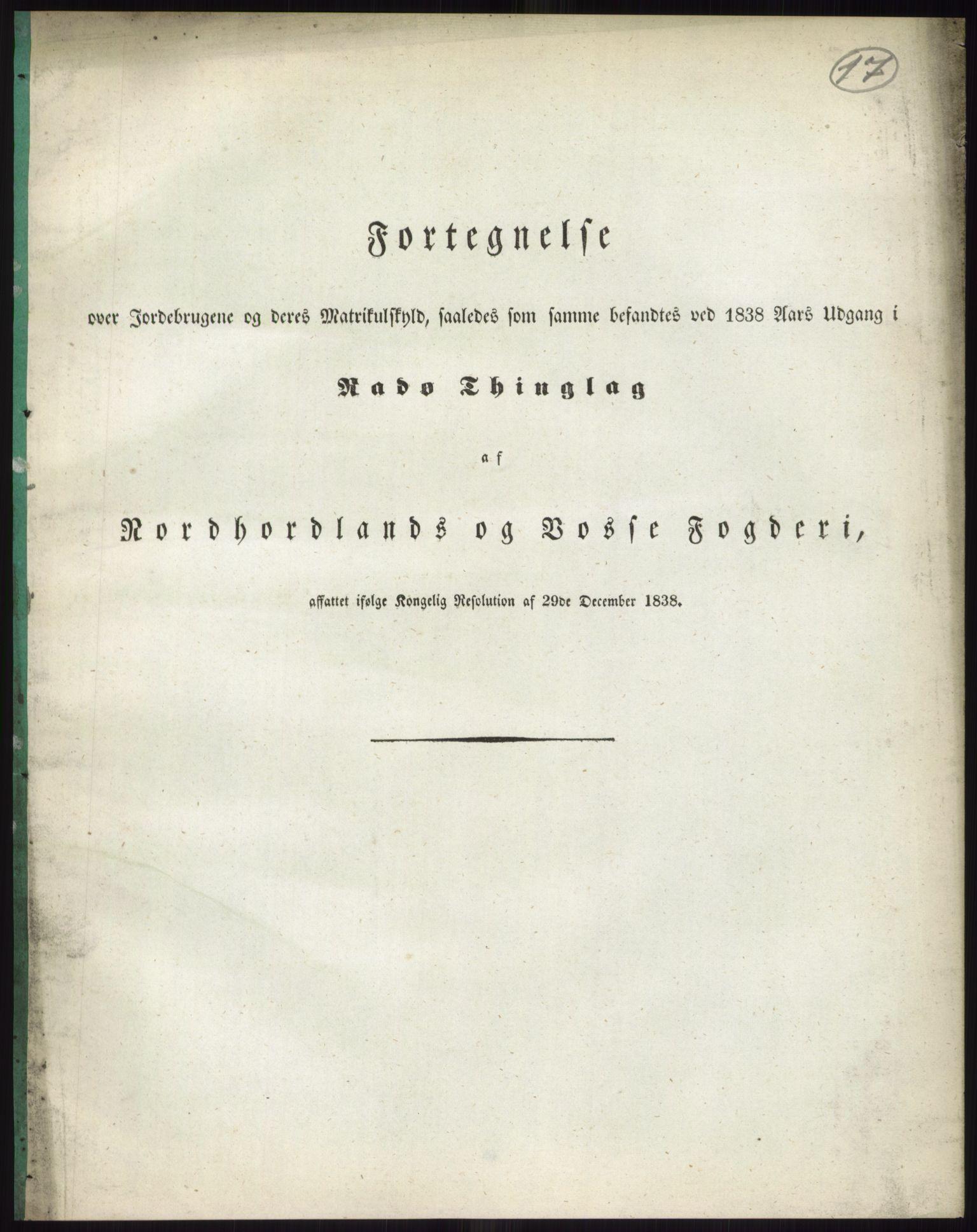 PUBL, Andre publikasjoner, -/Bind 12: Søndre Bergenhus amt: Nordhordland og Voss fogderi, 1838, s. 33