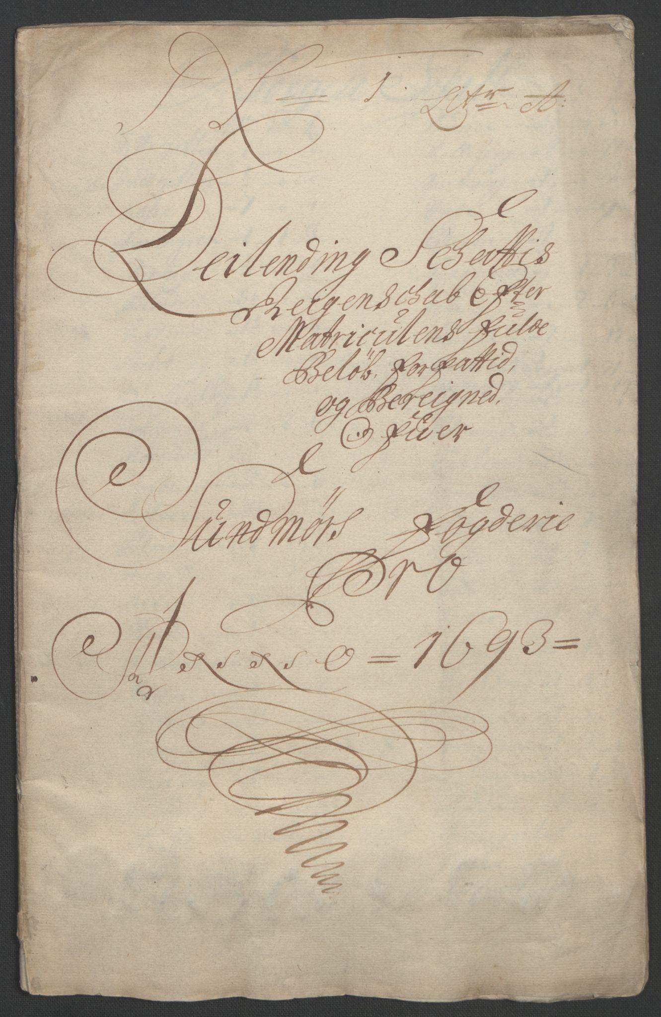 RA, Rentekammeret inntil 1814, Reviderte regnskaper, Fogderegnskap, R54/L3554: Fogderegnskap Sunnmøre, 1691-1693, s. 355