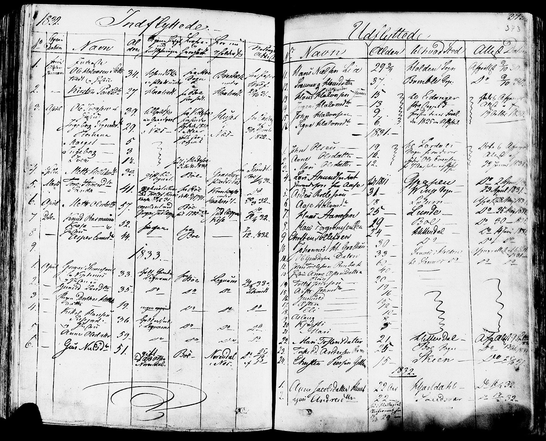 SAKO, Sauherad kirkebøker, F/Fa/L0006: Ministerialbok nr. I 6, 1827-1850, s. 373