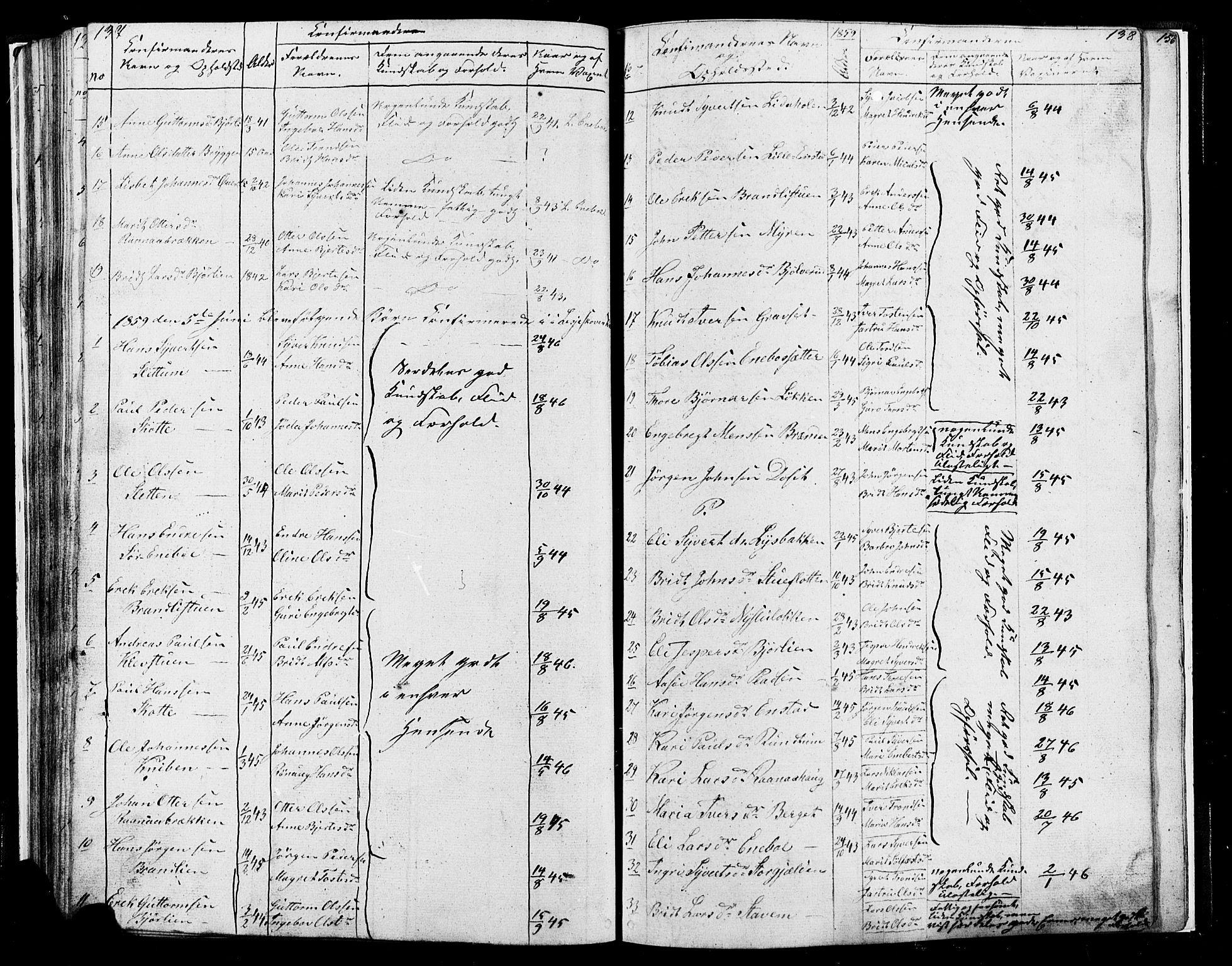 SAH, Lesja prestekontor, Klokkerbok nr. 4, 1842-1871, s. 137-138