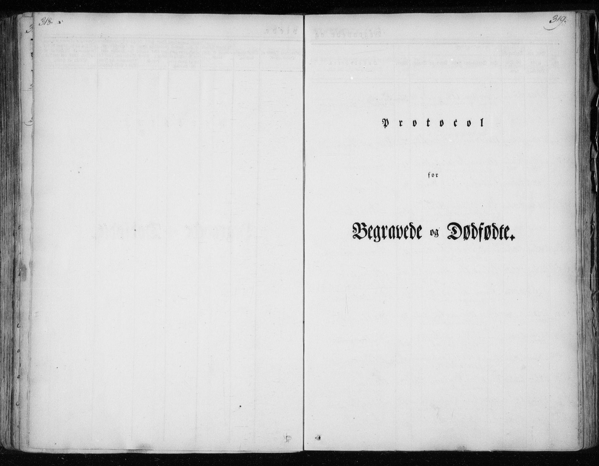 SAT, Ministerialprotokoller, klokkerbøker og fødselsregistre - Nordland, 825/L0354: Ministerialbok nr. 825A08, 1826-1841, s. 318-319