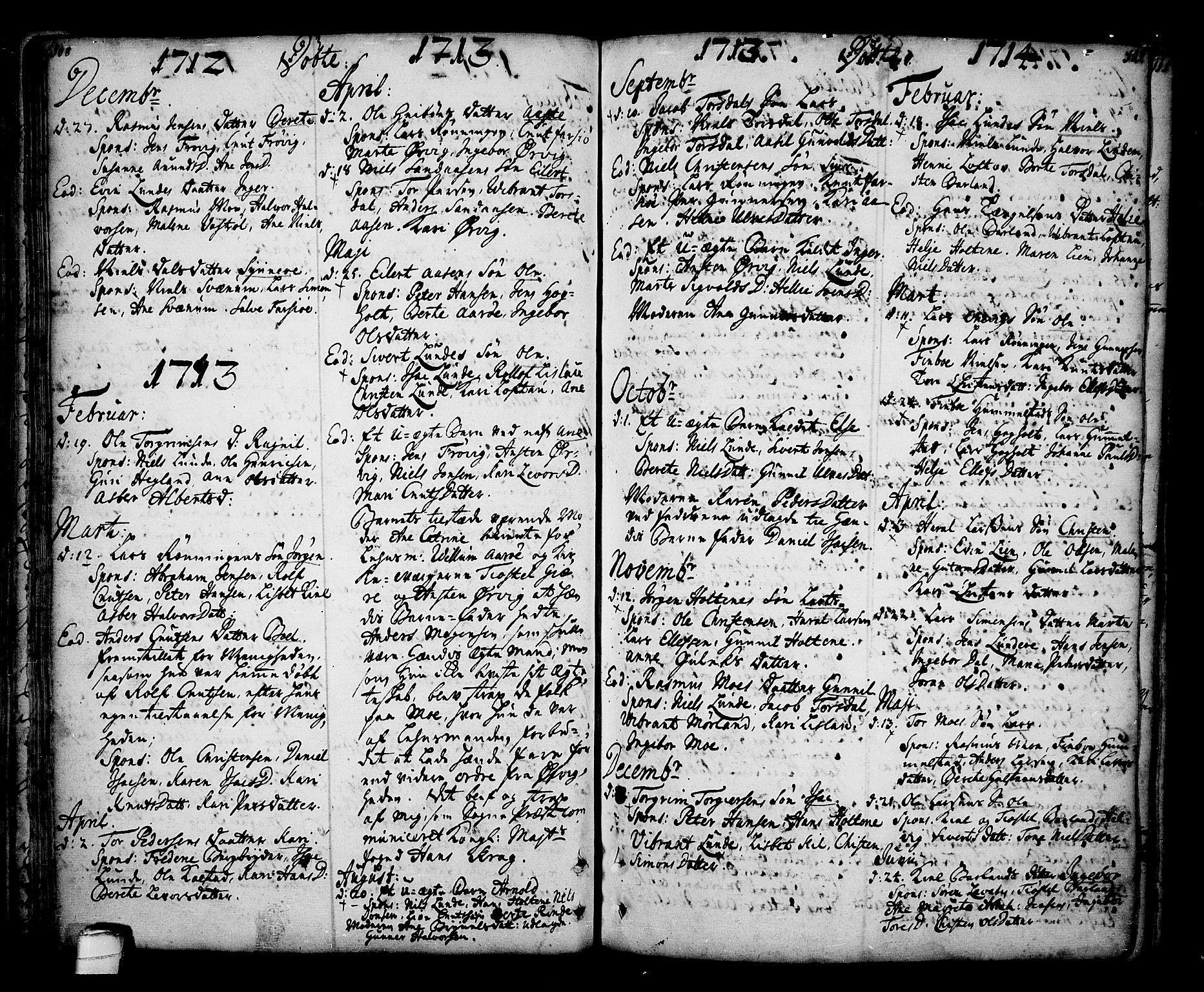 SAKO, Sannidal kirkebøker, F/Fa/L0001: Ministerialbok nr. 1, 1702-1766, s. 108-109