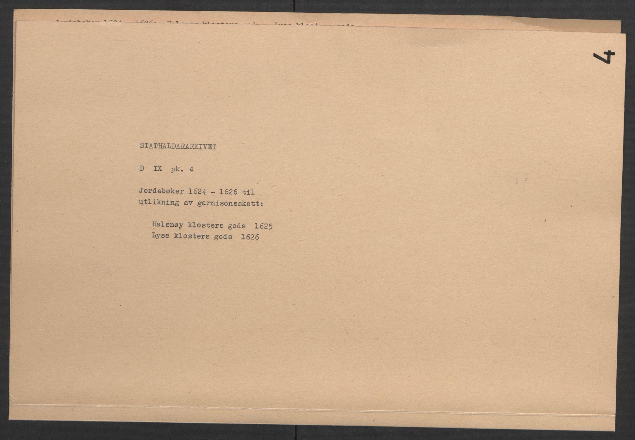 RA, Stattholderembetet 1572-1771, Ek/L0004: Jordebøker til utlikning av garnisonsskatt 1624-1626:, 1626, s. 66