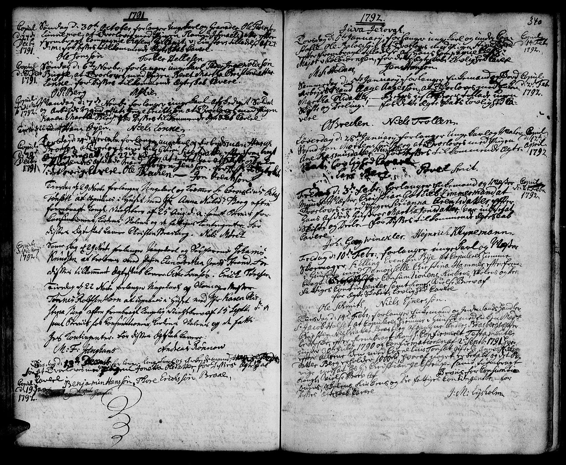 SAT, Ministerialprotokoller, klokkerbøker og fødselsregistre - Sør-Trøndelag, 601/L0038: Ministerialbok nr. 601A06, 1766-1877, s. 340