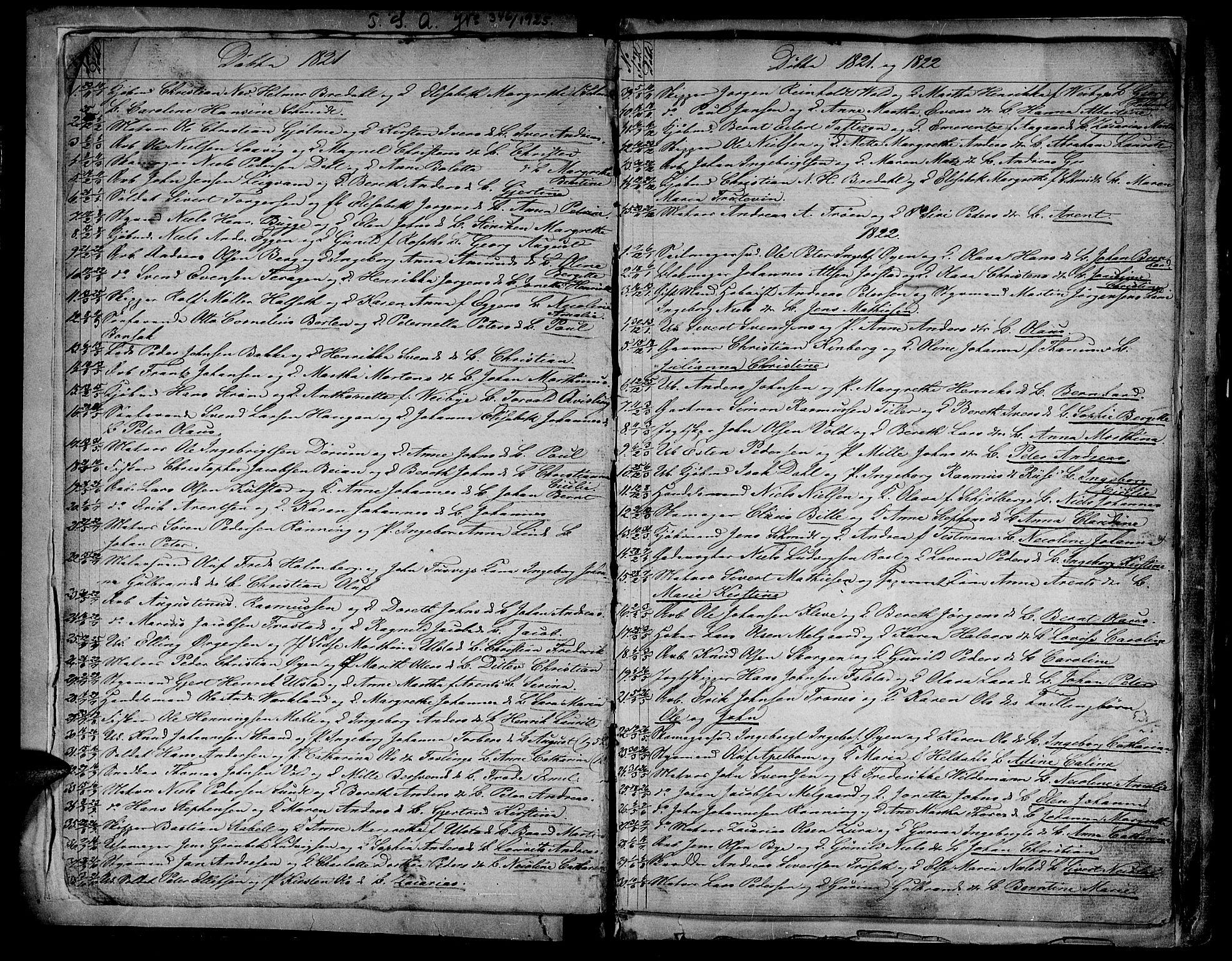 SAT, Ministerialprotokoller, klokkerbøker og fødselsregistre - Sør-Trøndelag, 604/L0182: Ministerialbok nr. 604A03, 1818-1850, s. 2