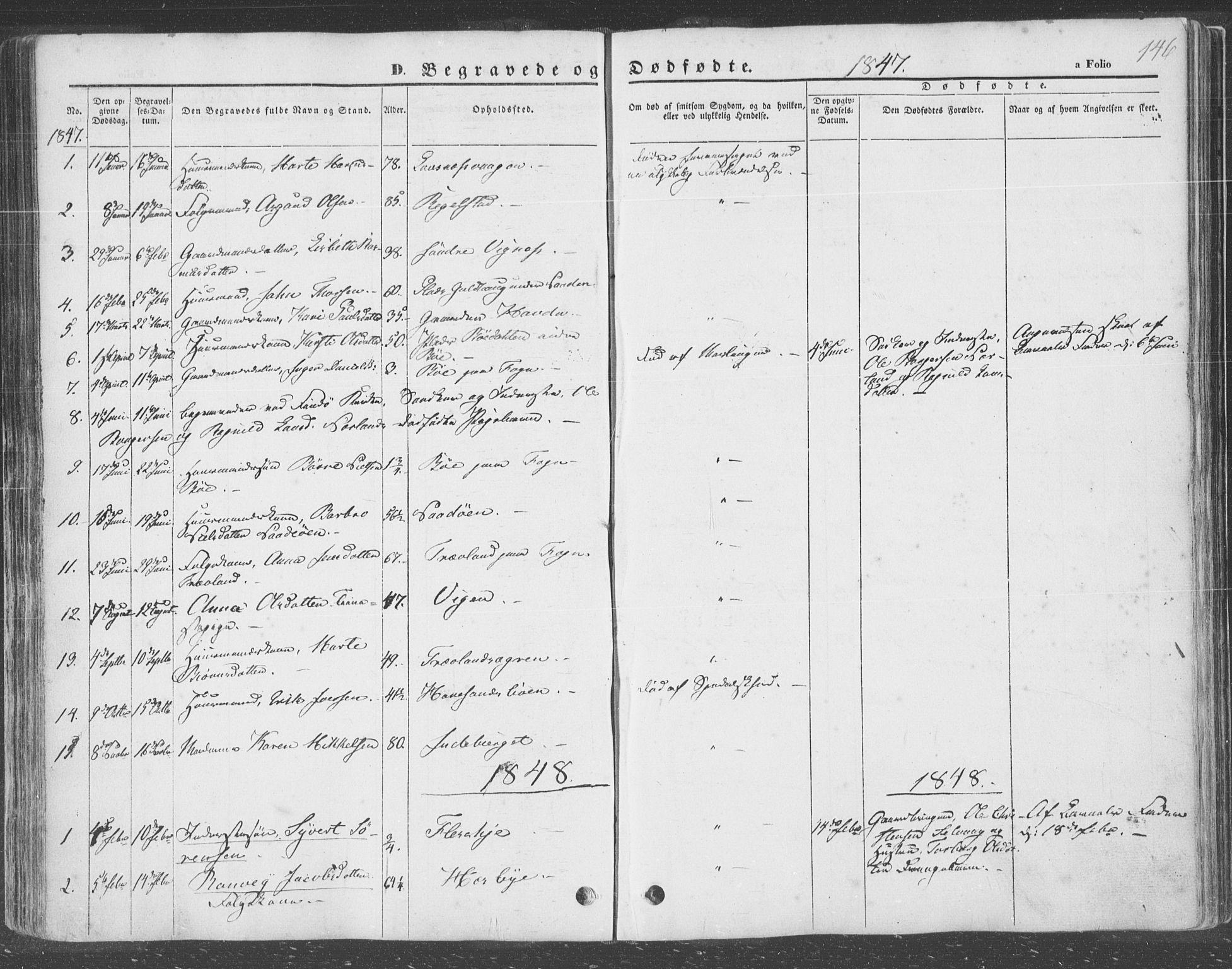 SAST, Finnøy sokneprestkontor, H/Ha/Haa/L0007: Ministerialbok nr. A 7, 1847-1862, s. 146