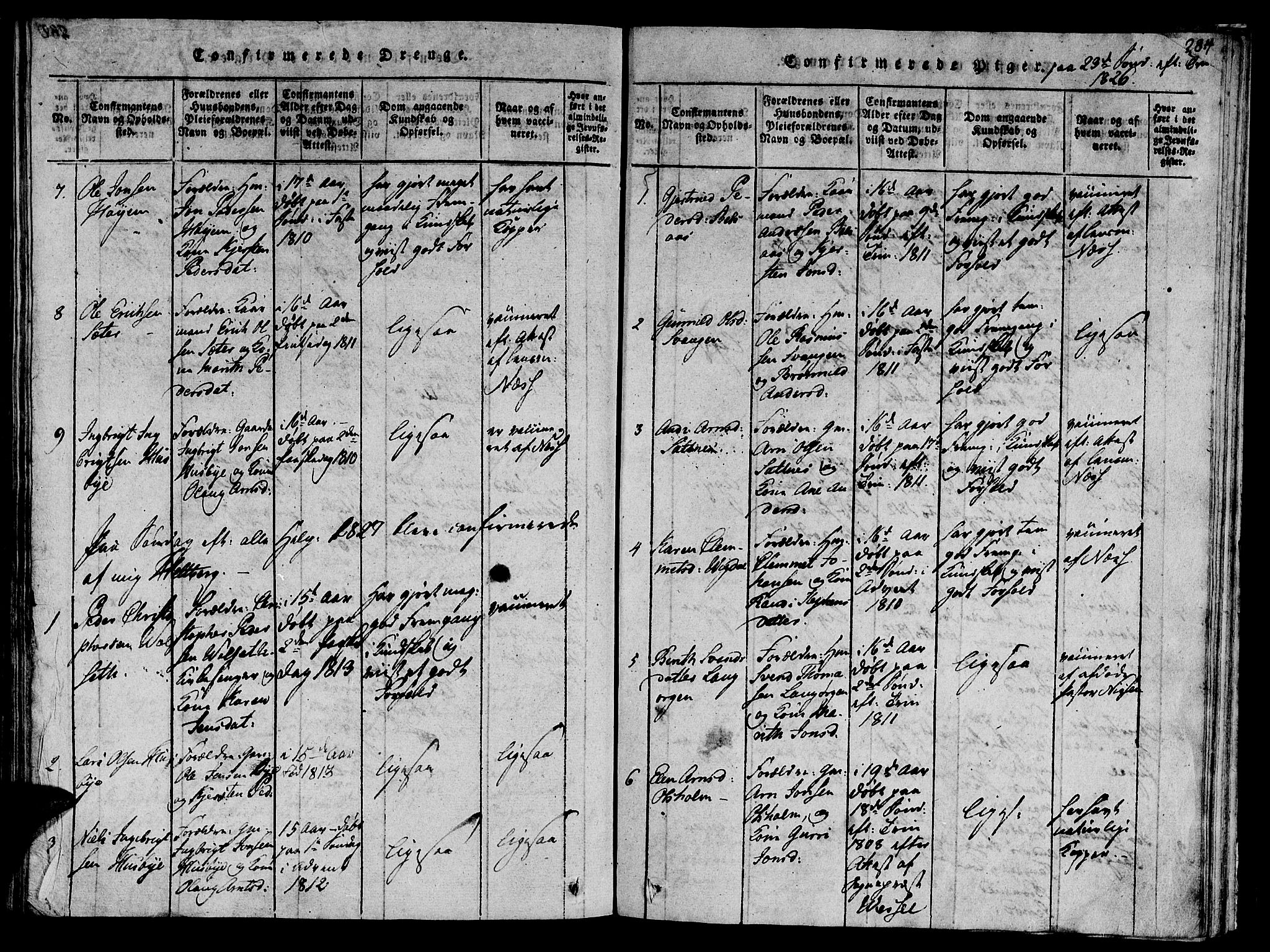 SAT, Ministerialprotokoller, klokkerbøker og fødselsregistre - Sør-Trøndelag, 612/L0373: Ministerialbok nr. 612A06 /2, 1816-1828, s. 283