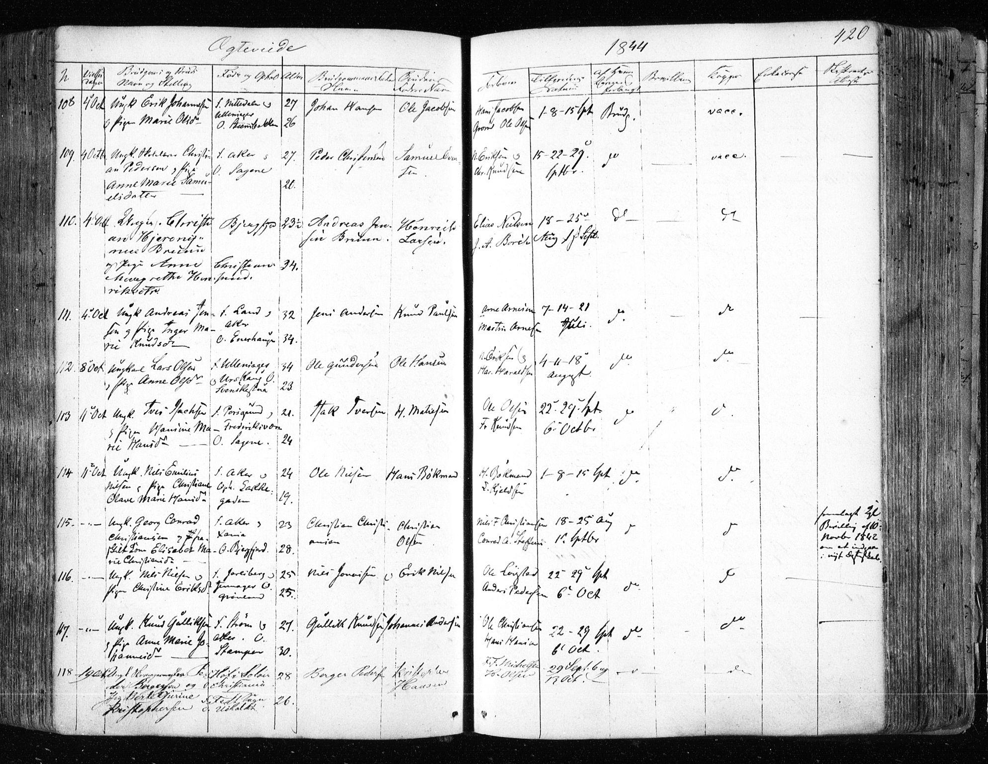 SAO, Aker prestekontor kirkebøker, F/L0019: Ministerialbok nr. 19, 1842-1852, s. 420